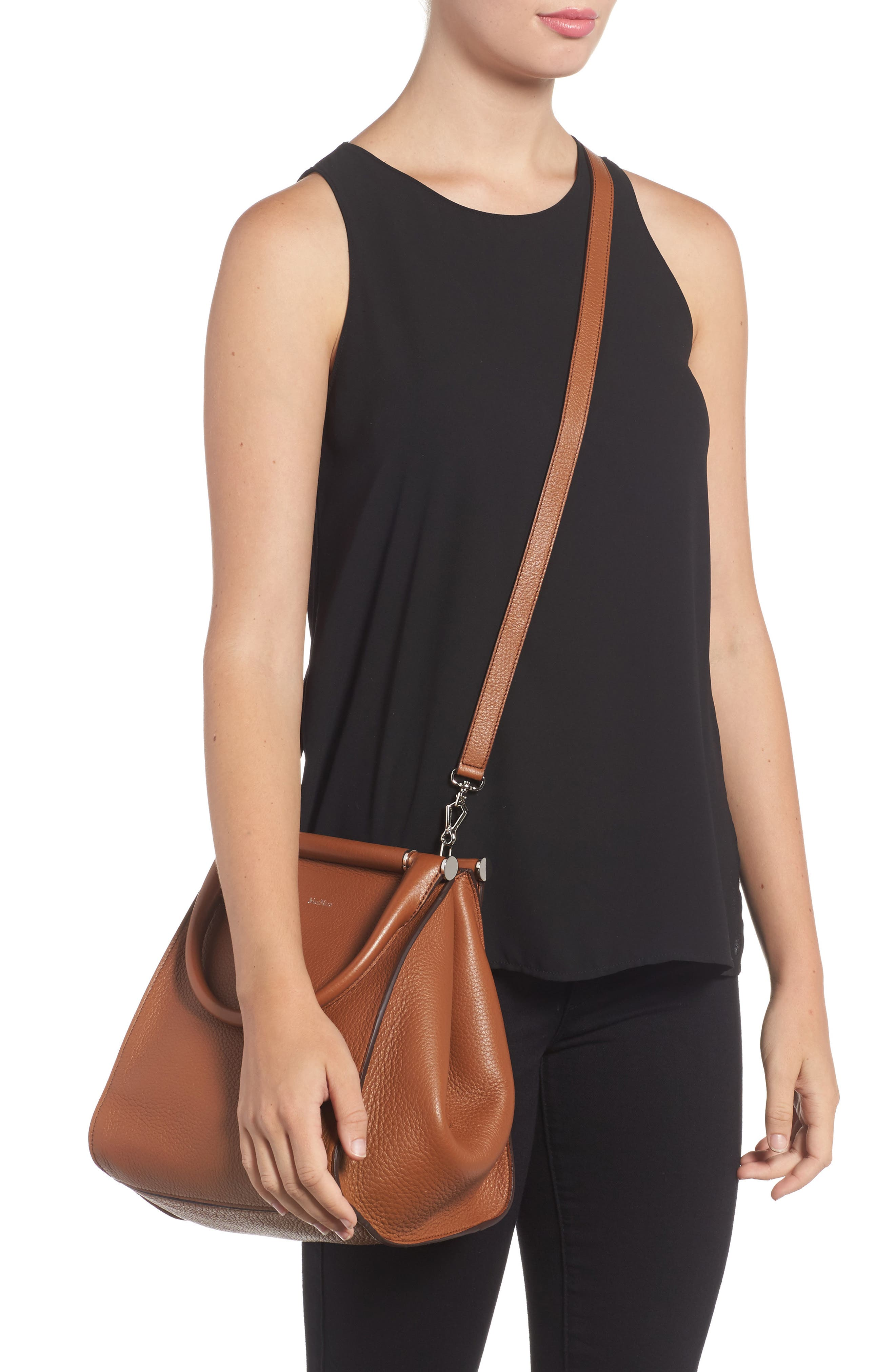 Deerskin Leather Satchel,                             Alternate thumbnail 2, color,                             Cuoio