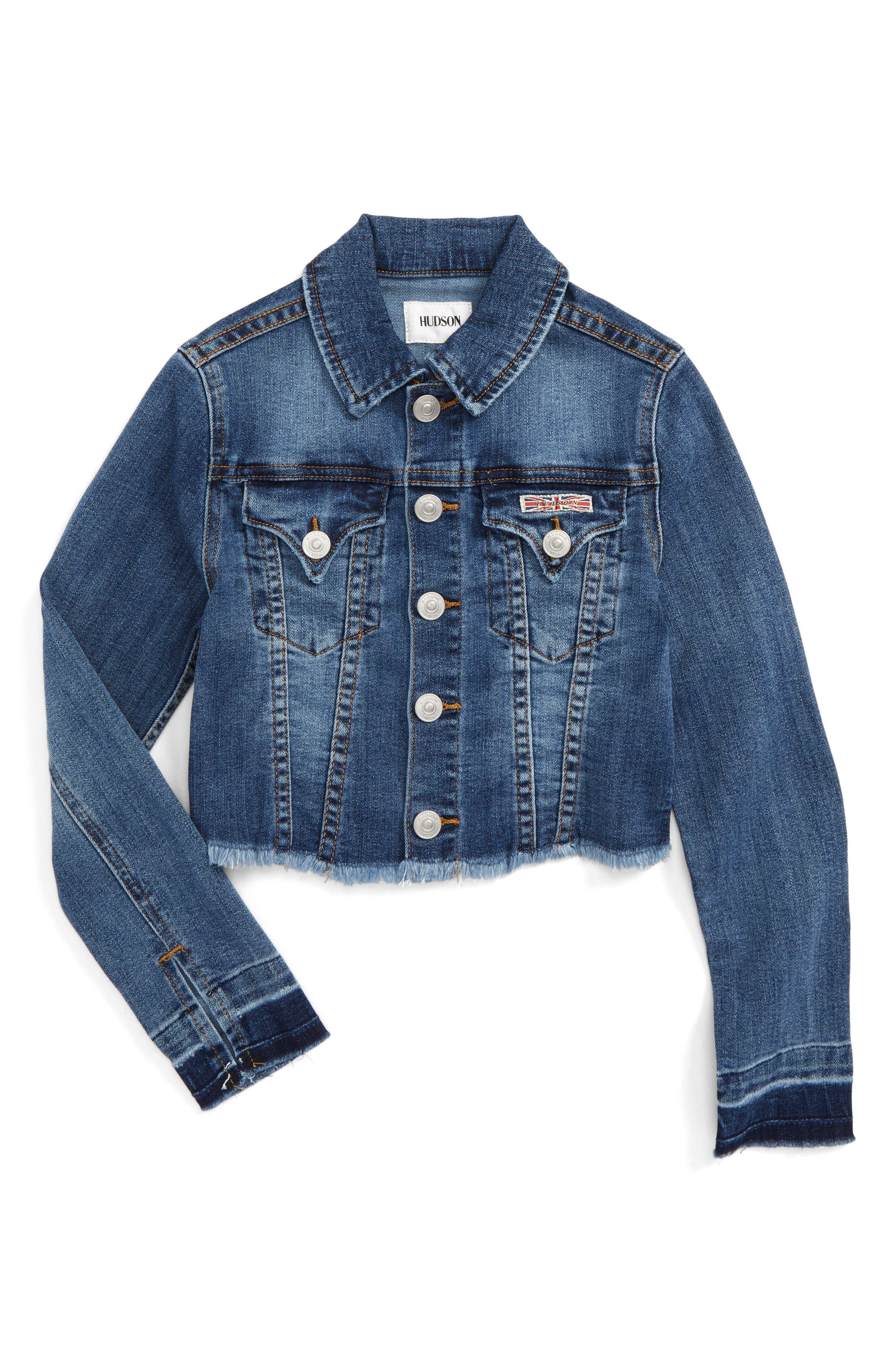 Main Image - Hudson Kids Cara Denim Jacket (Big Girls)