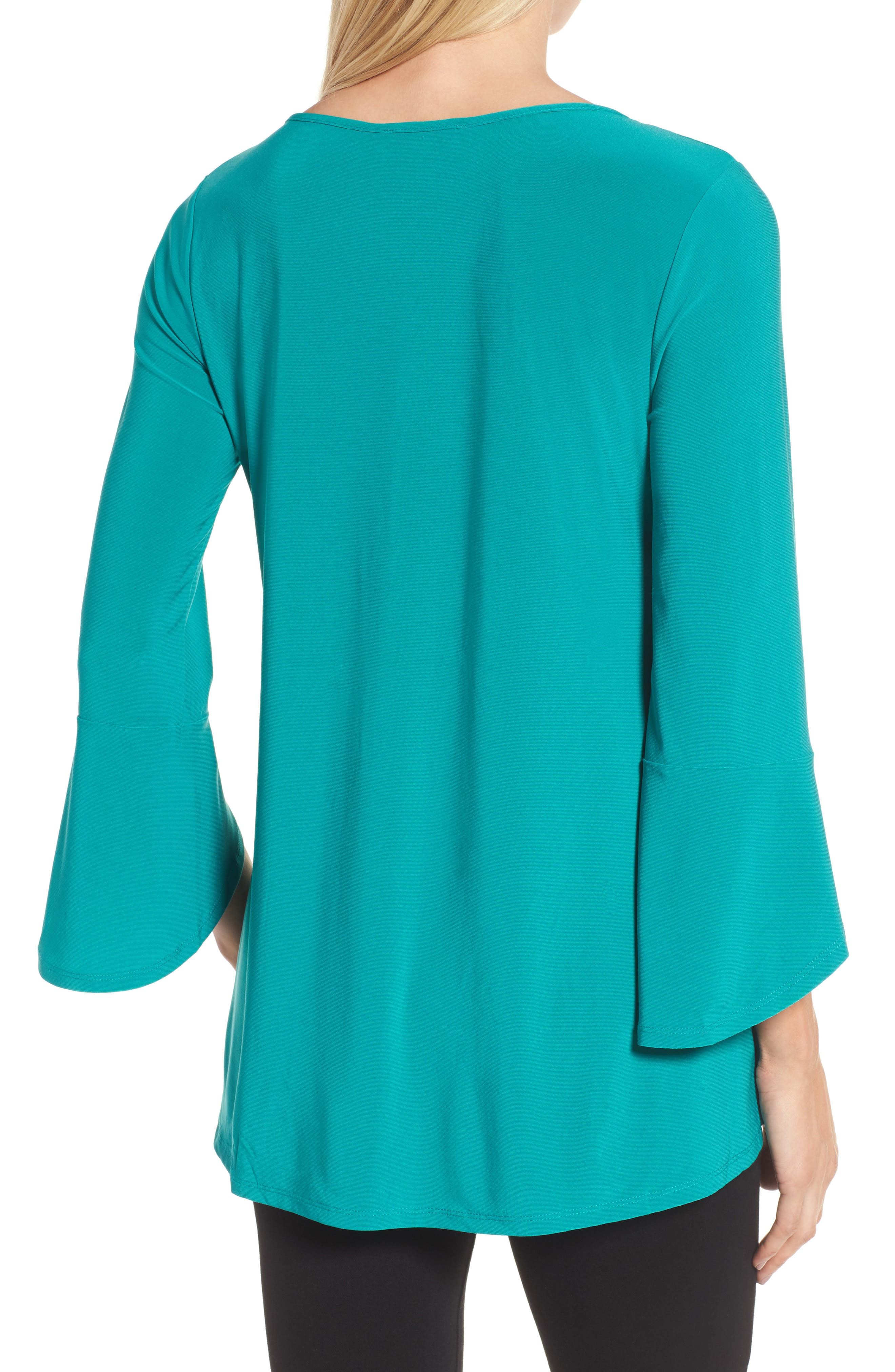 Alternate Image 2  - Chaus Bell Sleeve Keyhole Top
