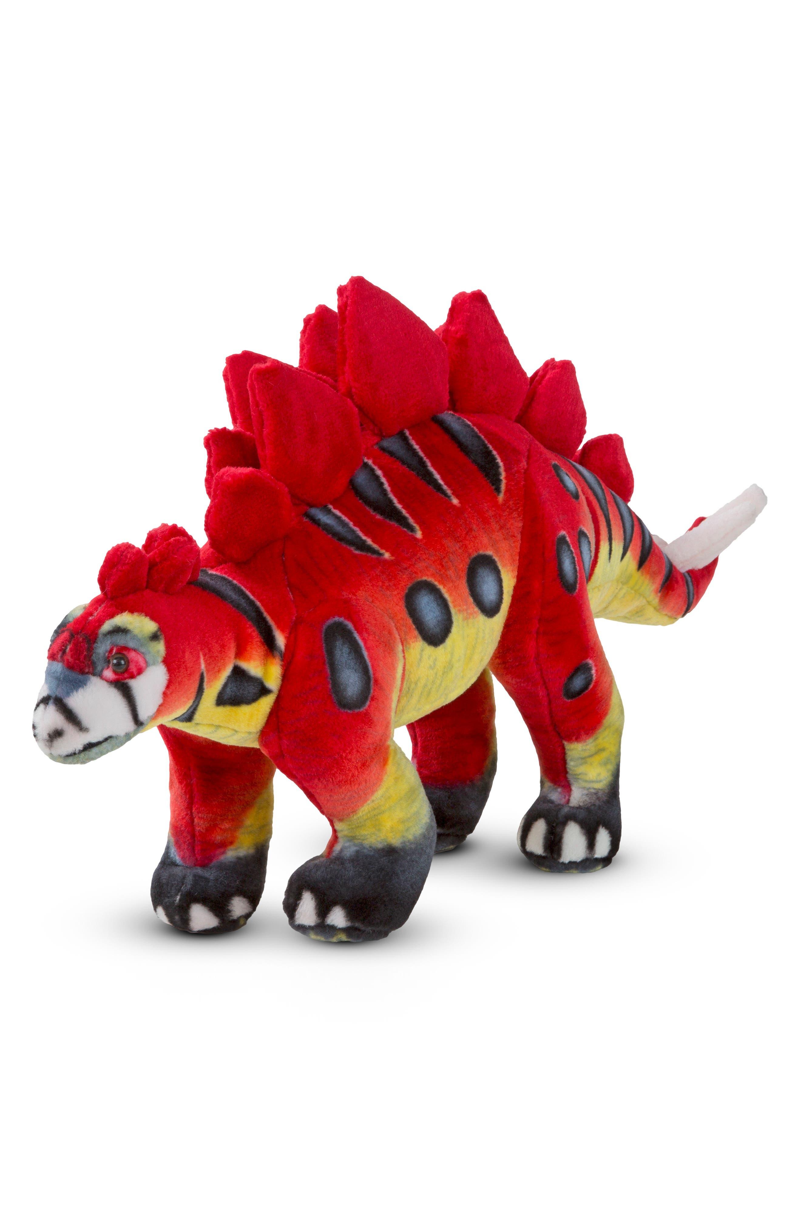 Giant Stegosaurus Plush,                         Main,                         color, Red Multi