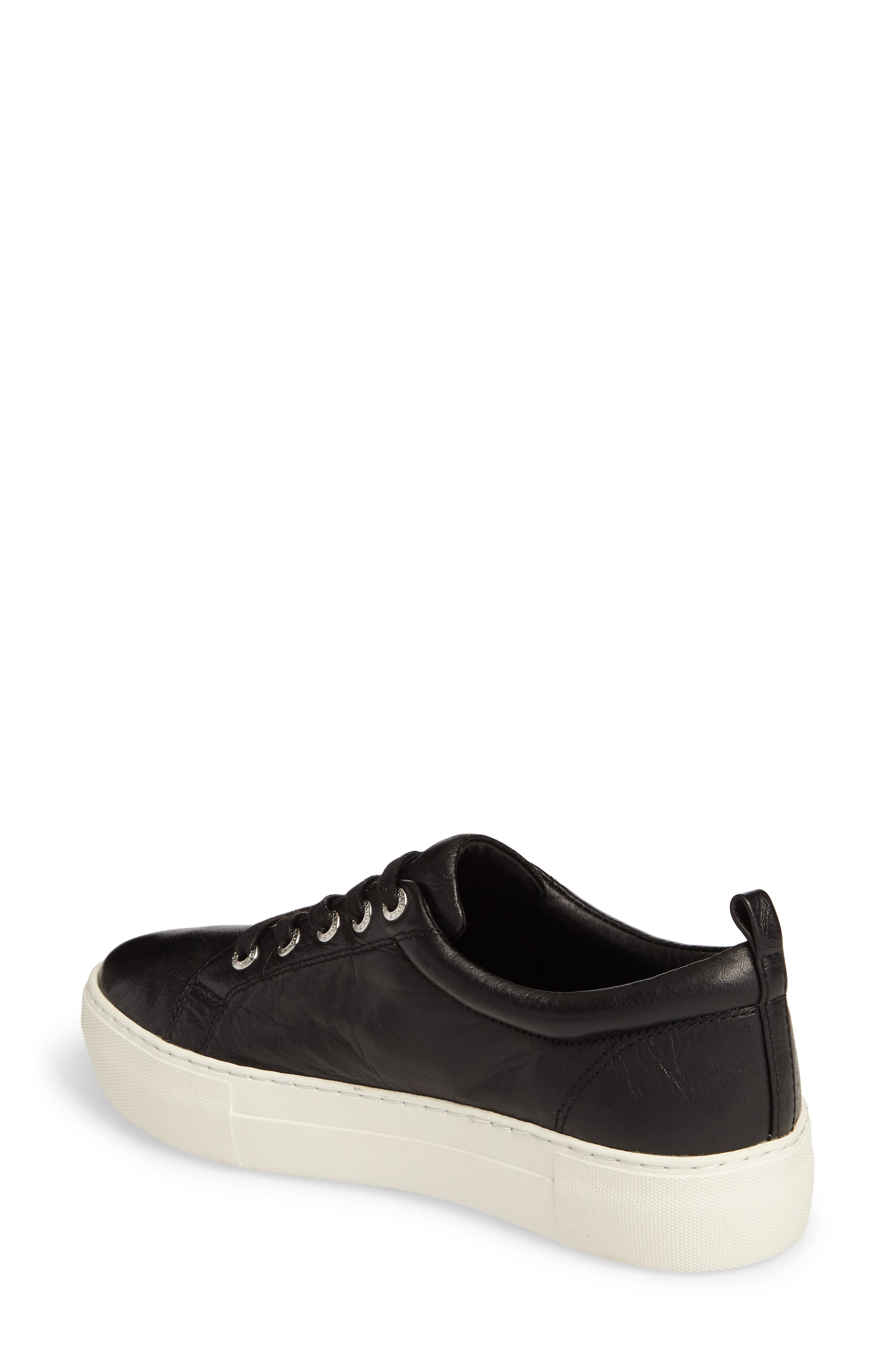 Ambrosia Studded Lace-Up Sneaker,                             Alternate thumbnail 2, color,                             Black Leather