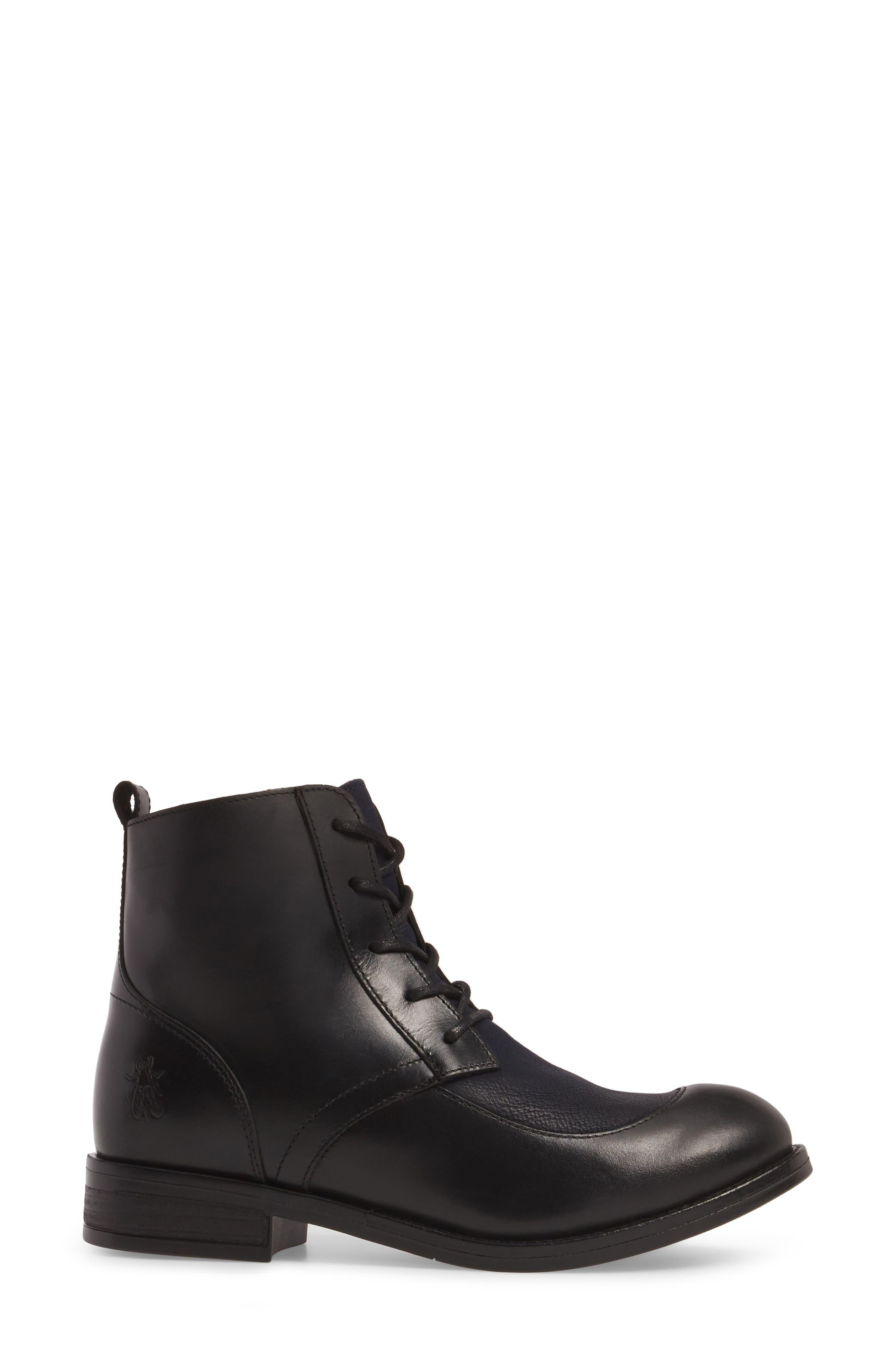 Arty Boot,                             Alternate thumbnail 3, color,                             Black/ Ocean Leather