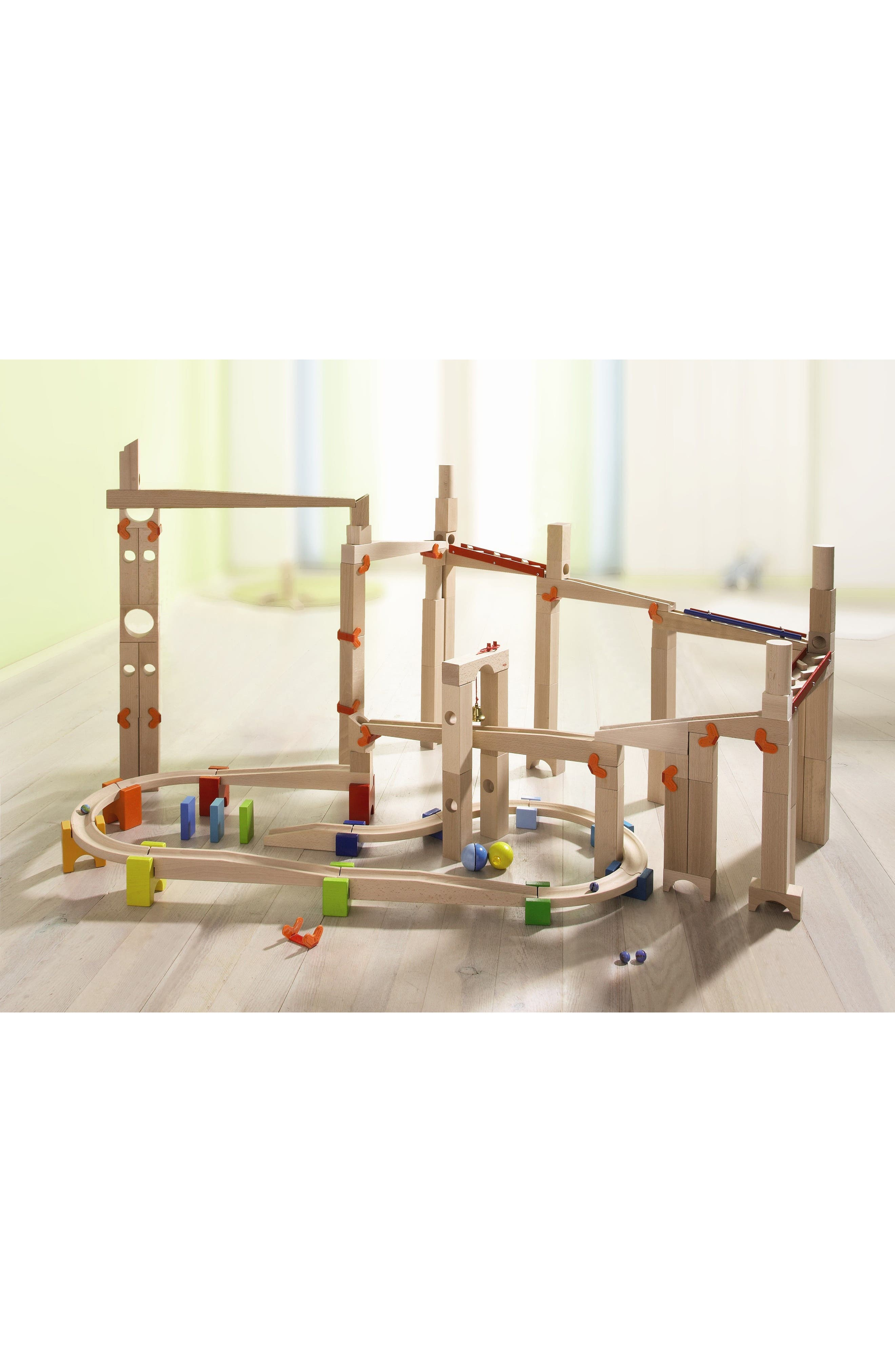 My First Ball Track - 30-Piece Large Basic Pack Construction Set,                             Alternate thumbnail 2, color,                             Brown