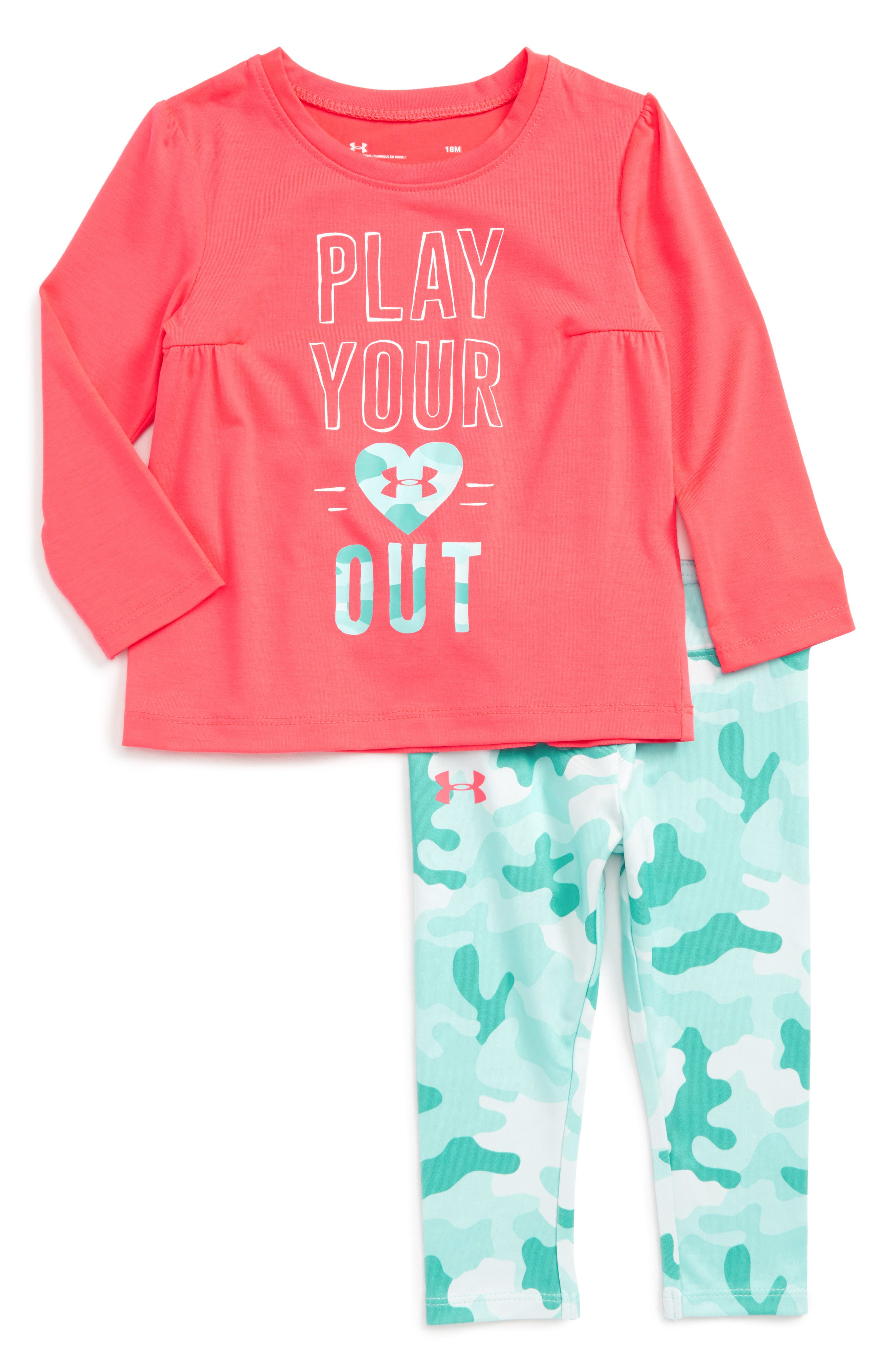 Under Armour Play Your Heart Out Tee & Leggings Set (Baby Girls)
