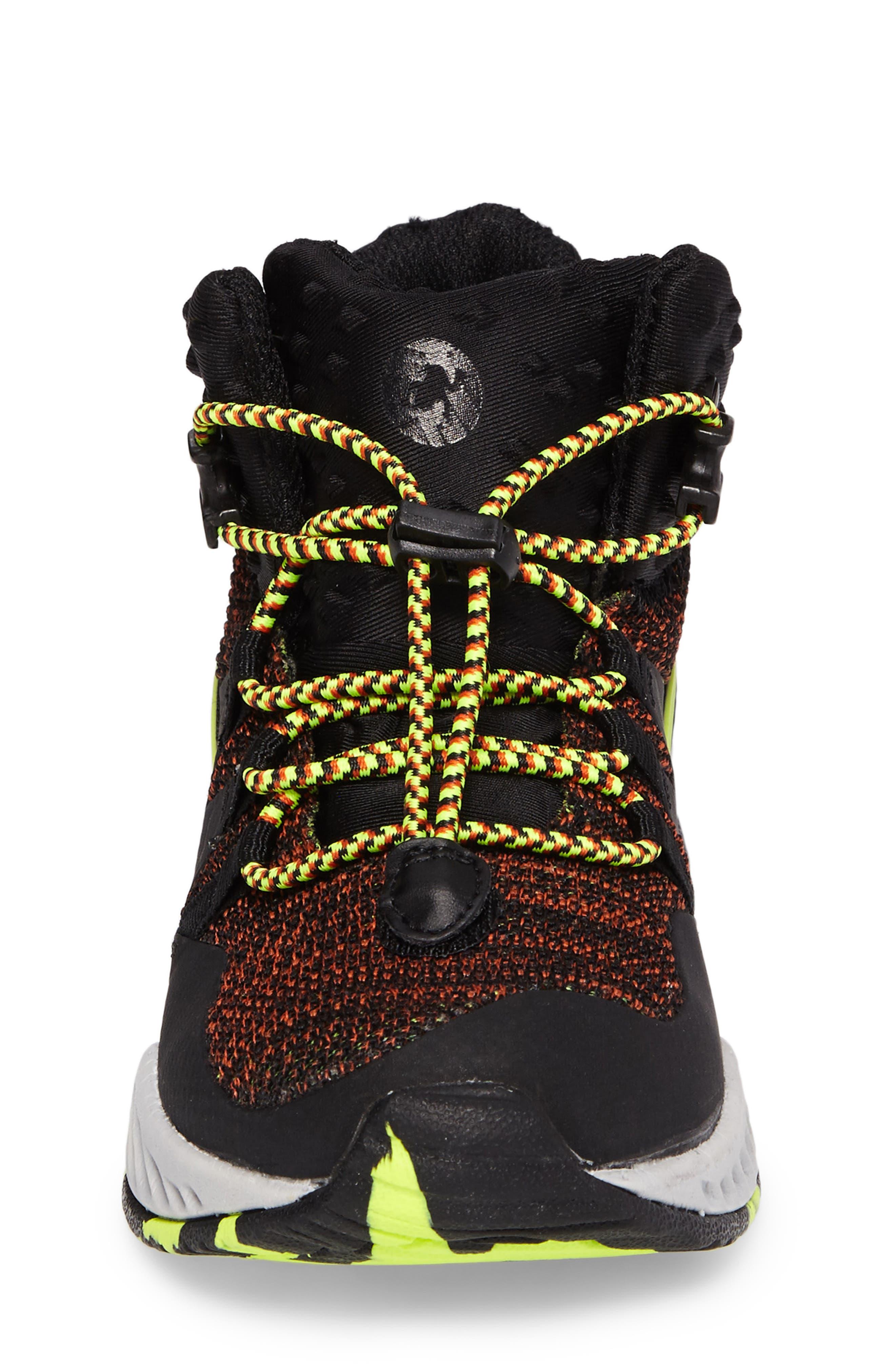 Armadillo Sneaker Boot,                             Alternate thumbnail 4, color,                             Black
