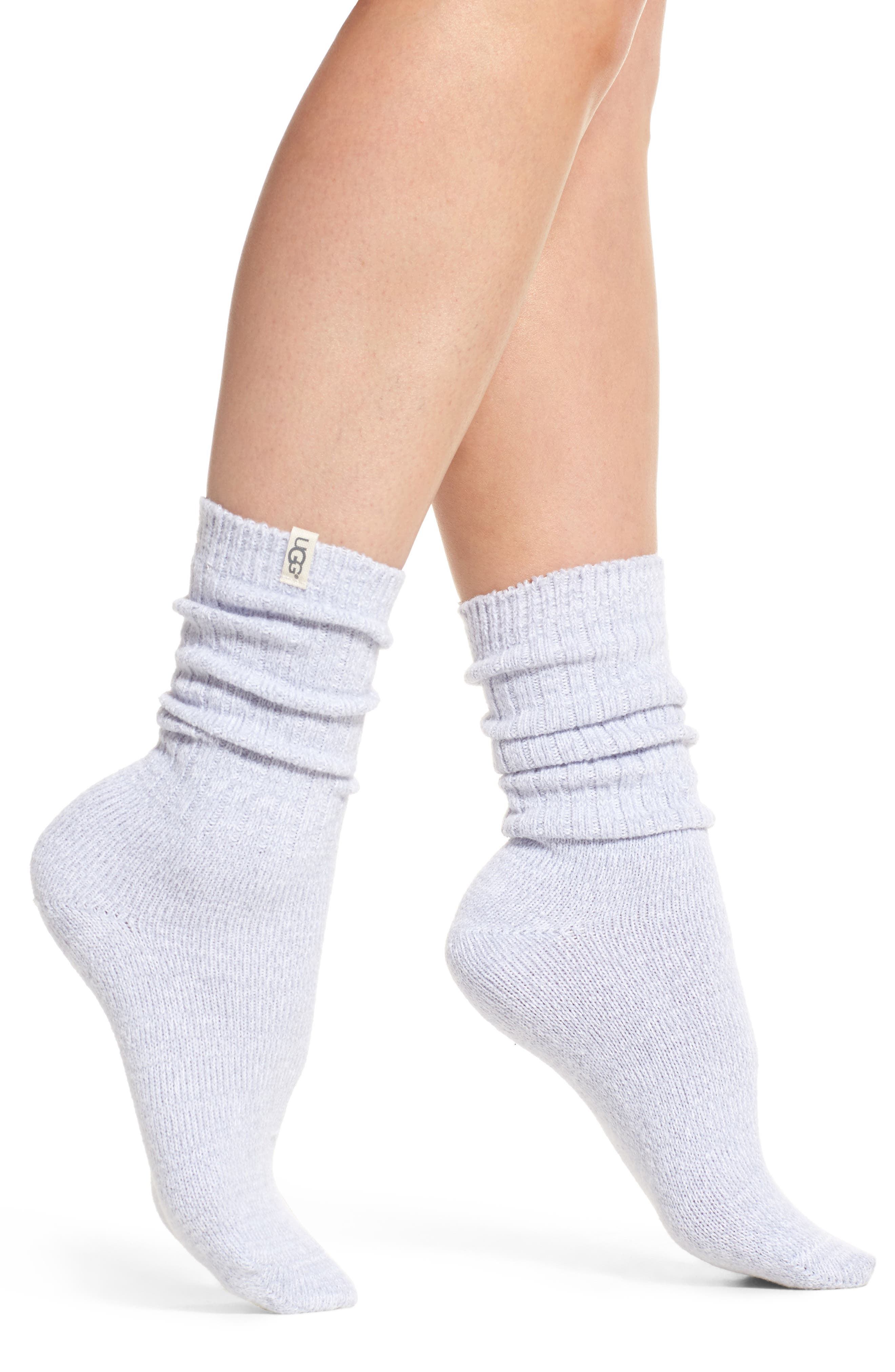 Alternate Image 1 Selected - UGG® Ribbed Crew Socks