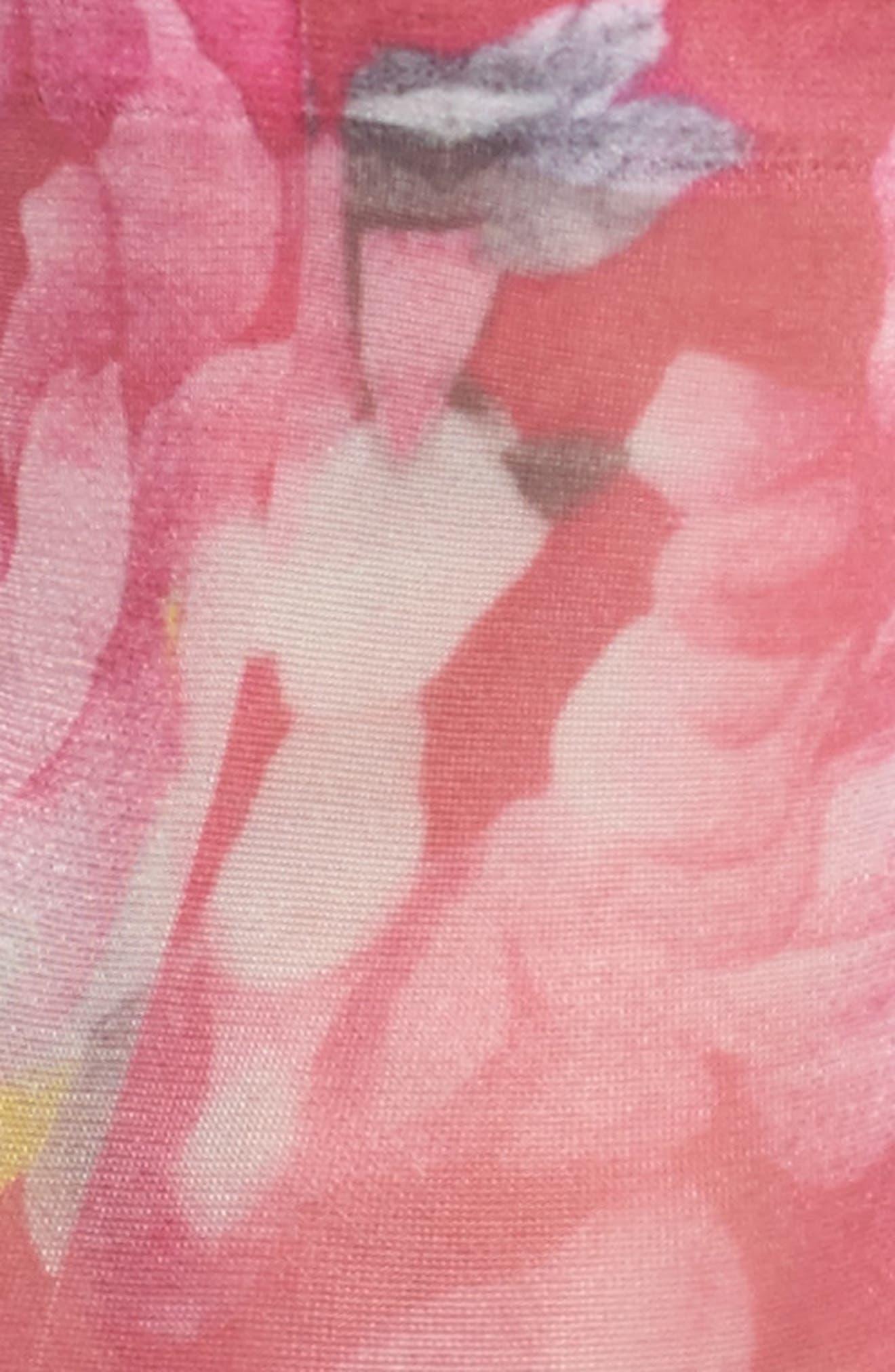 Floriana Ankle Socks,                             Alternate thumbnail 3, color,                             Pink
