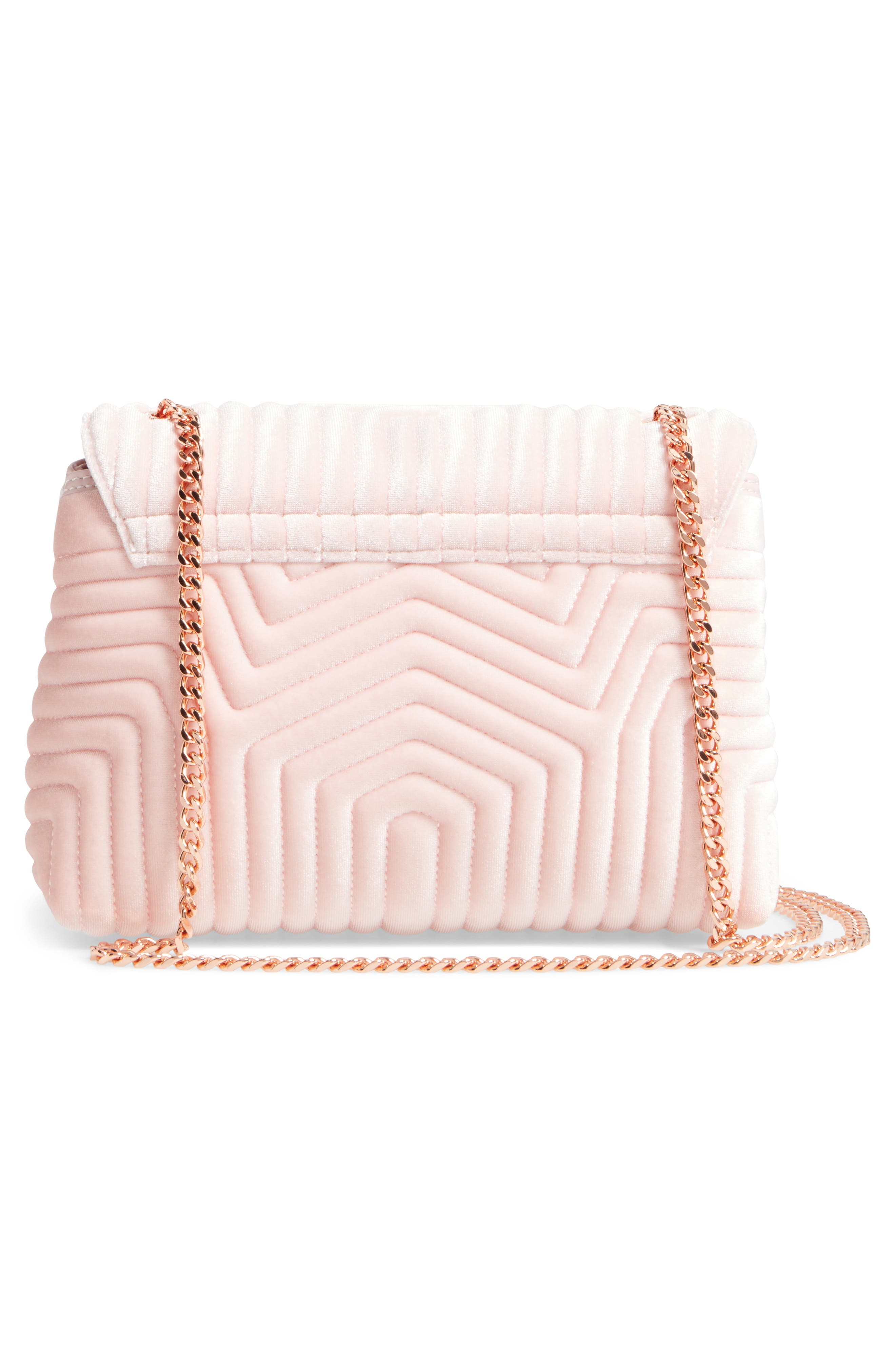 Alternate Image 3  - Ted Baker London Quilted Velvet Crossbody Bag