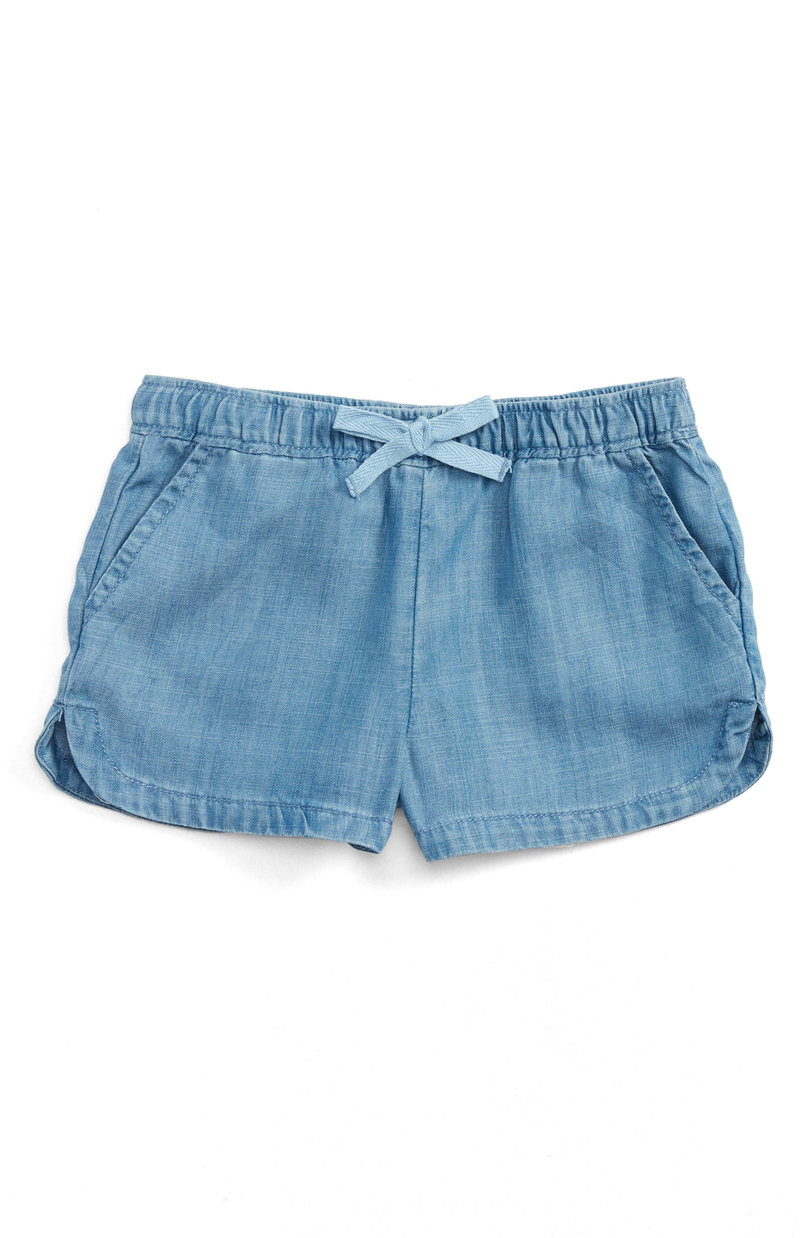 Vineyard Vines Chambray Pull-On Shorts (Toddler Girls)