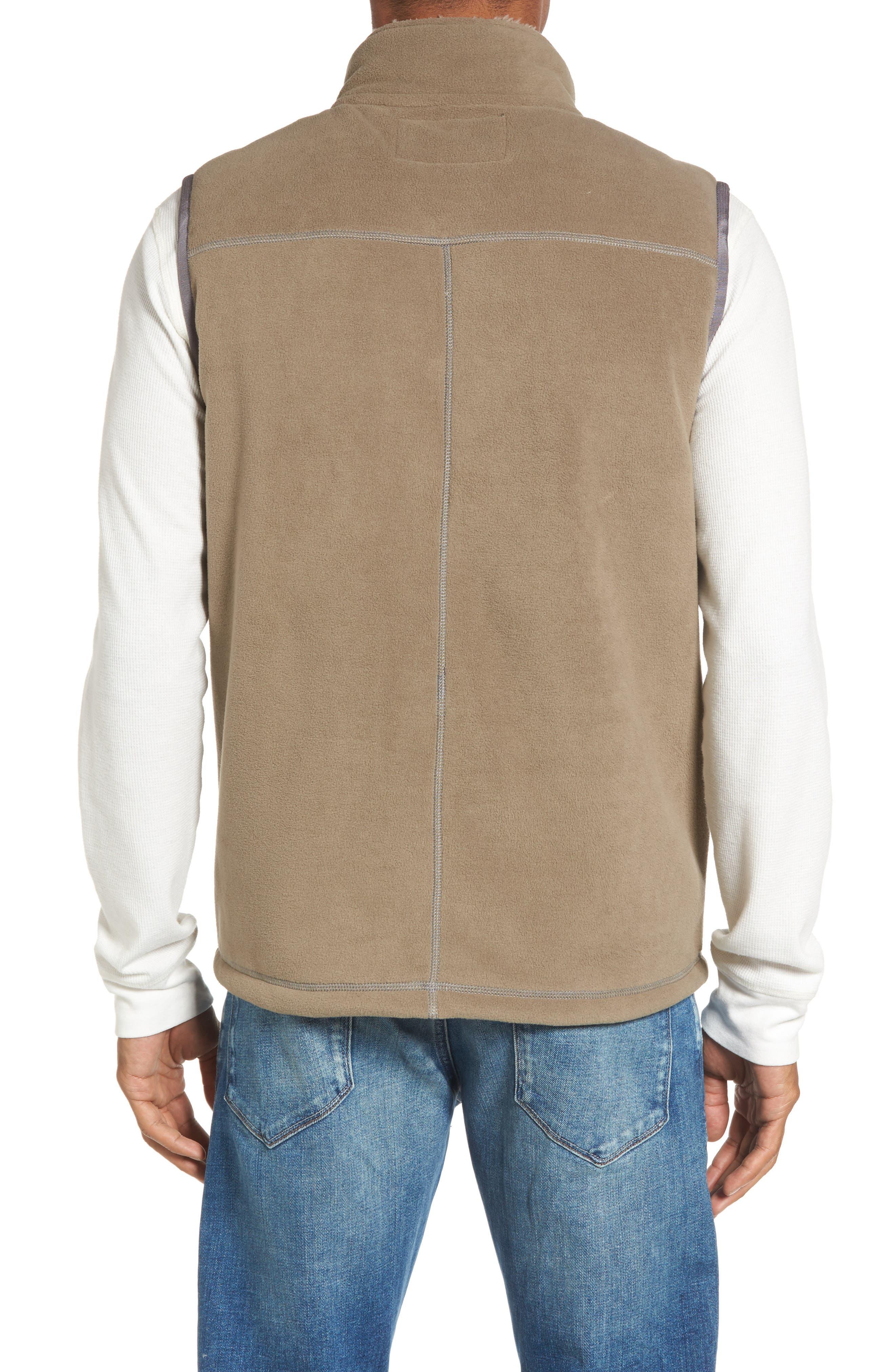 Fleece Vest with Faux Fur Lining,                             Alternate thumbnail 2, color,                             Gravel