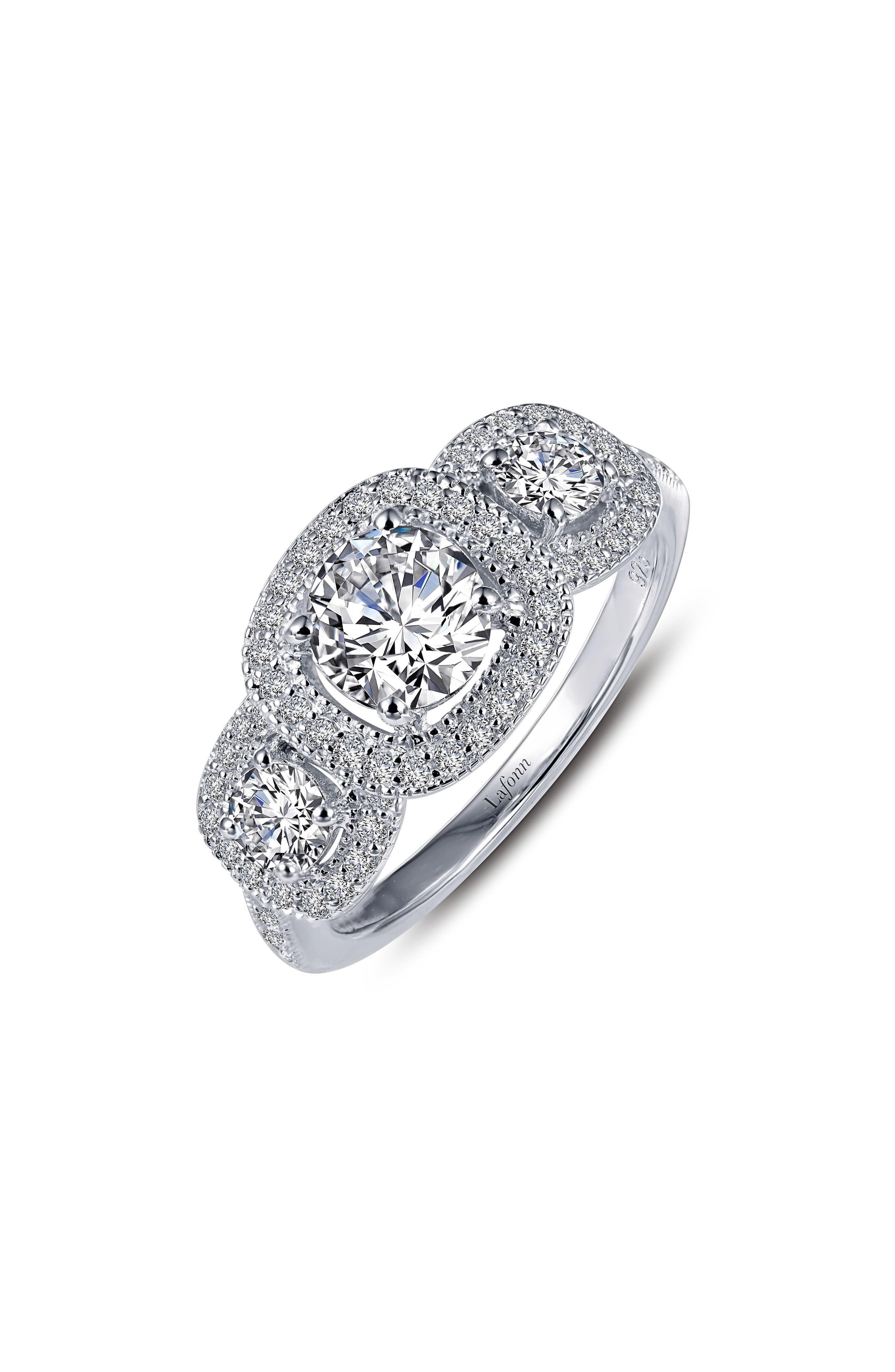Simulated Diamond Ring,                             Main thumbnail 1, color,                             Silver/ Clear