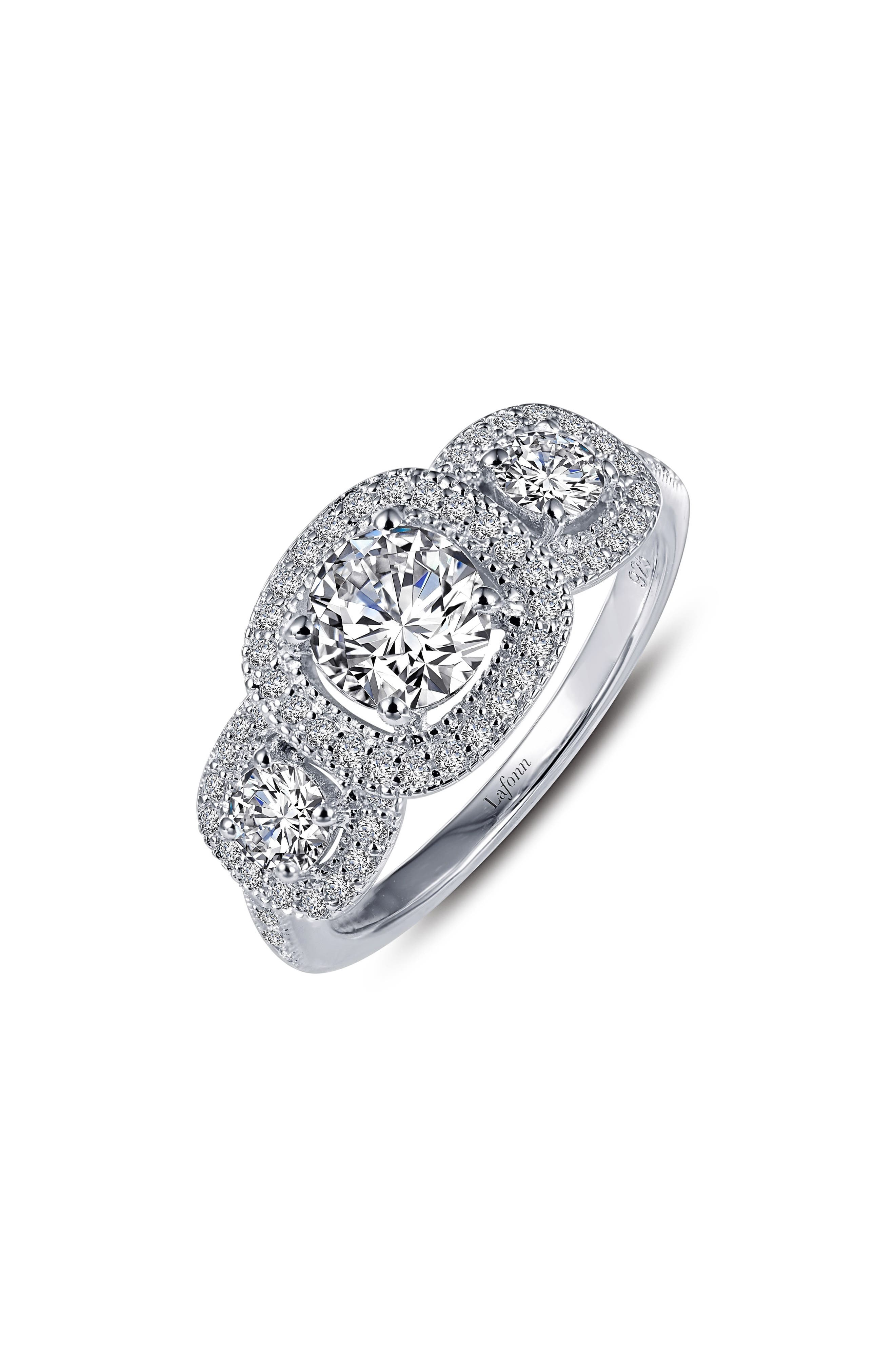 Simulated Diamond Ring,                         Main,                         color, Silver/ Clear