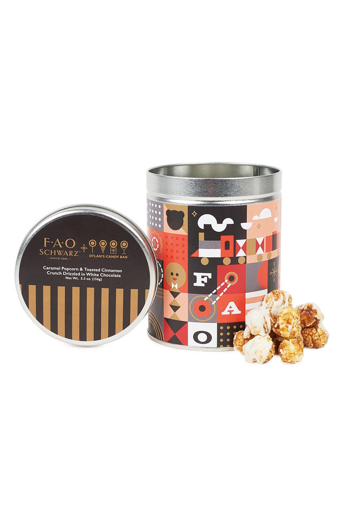 Dylan's Candy Bar x FAO Schwarz Toasted Cinnamon Popcorn Tin