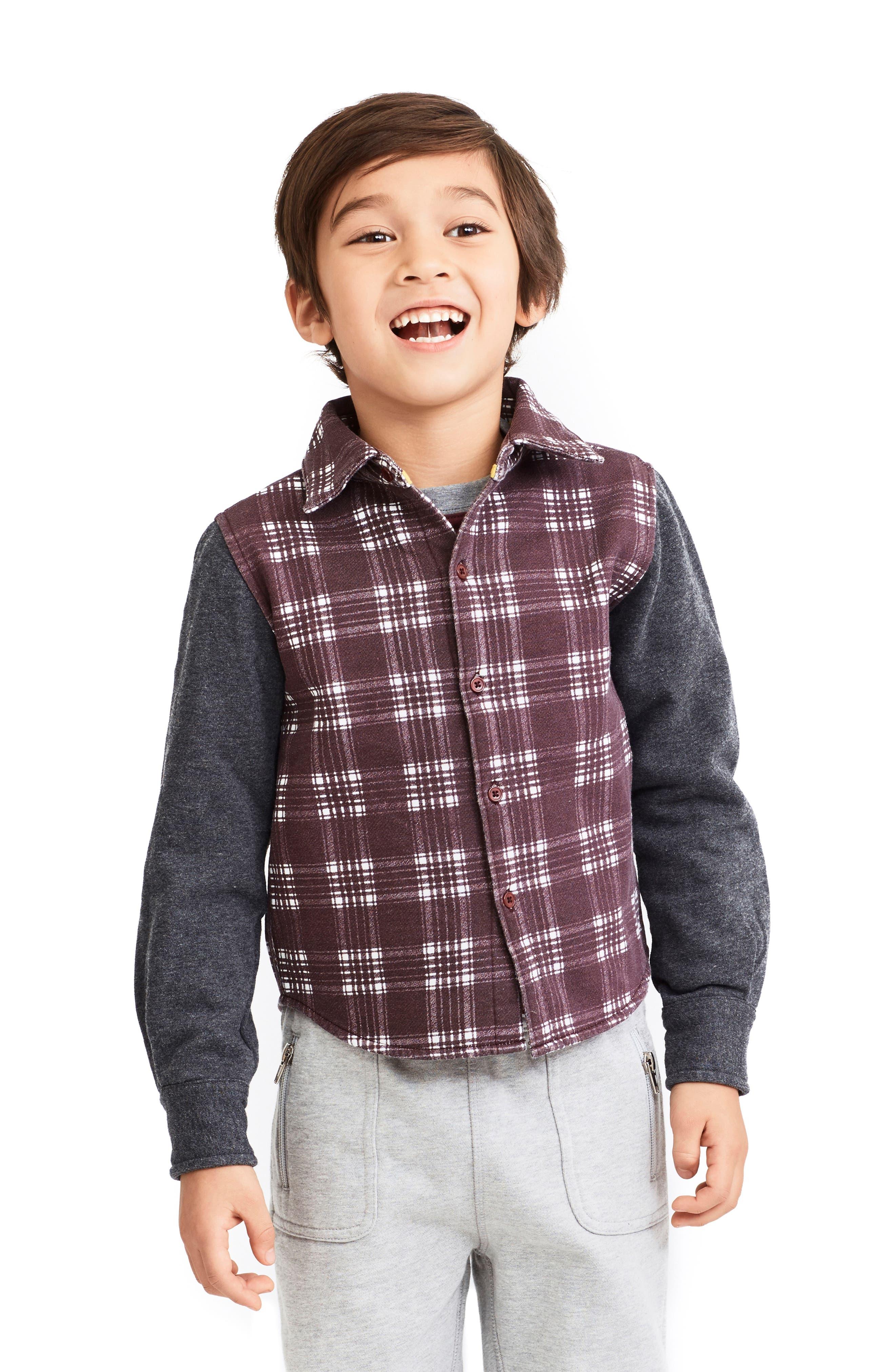 Alternate Image 2  - Art & Eden Pablo Buffalo Plaid Jacket (Toddler Boys, Little Boys & Big Boys)