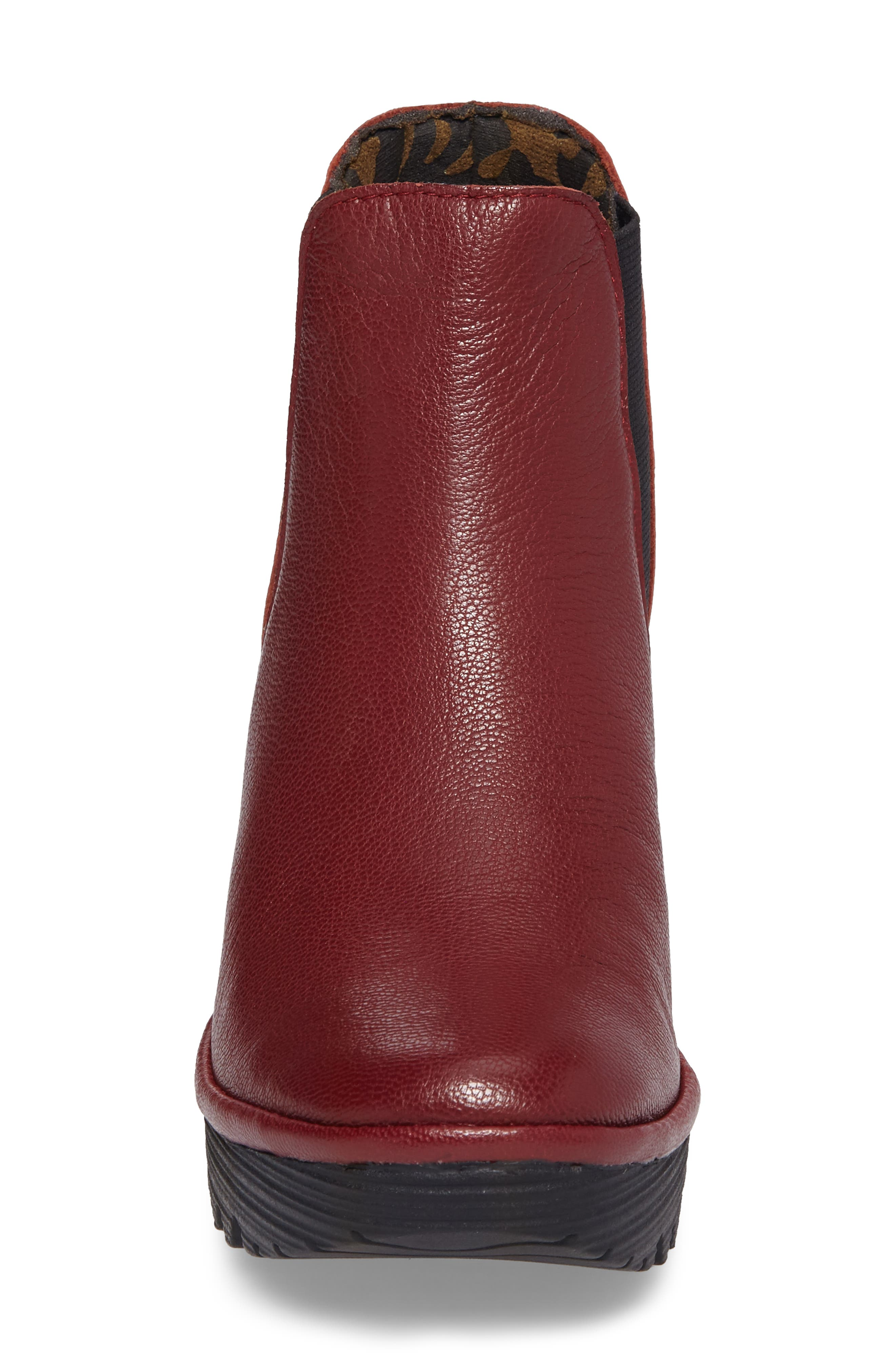 Yoss Wedge Bootie,                             Alternate thumbnail 4, color,                             Cordoba Red Leather