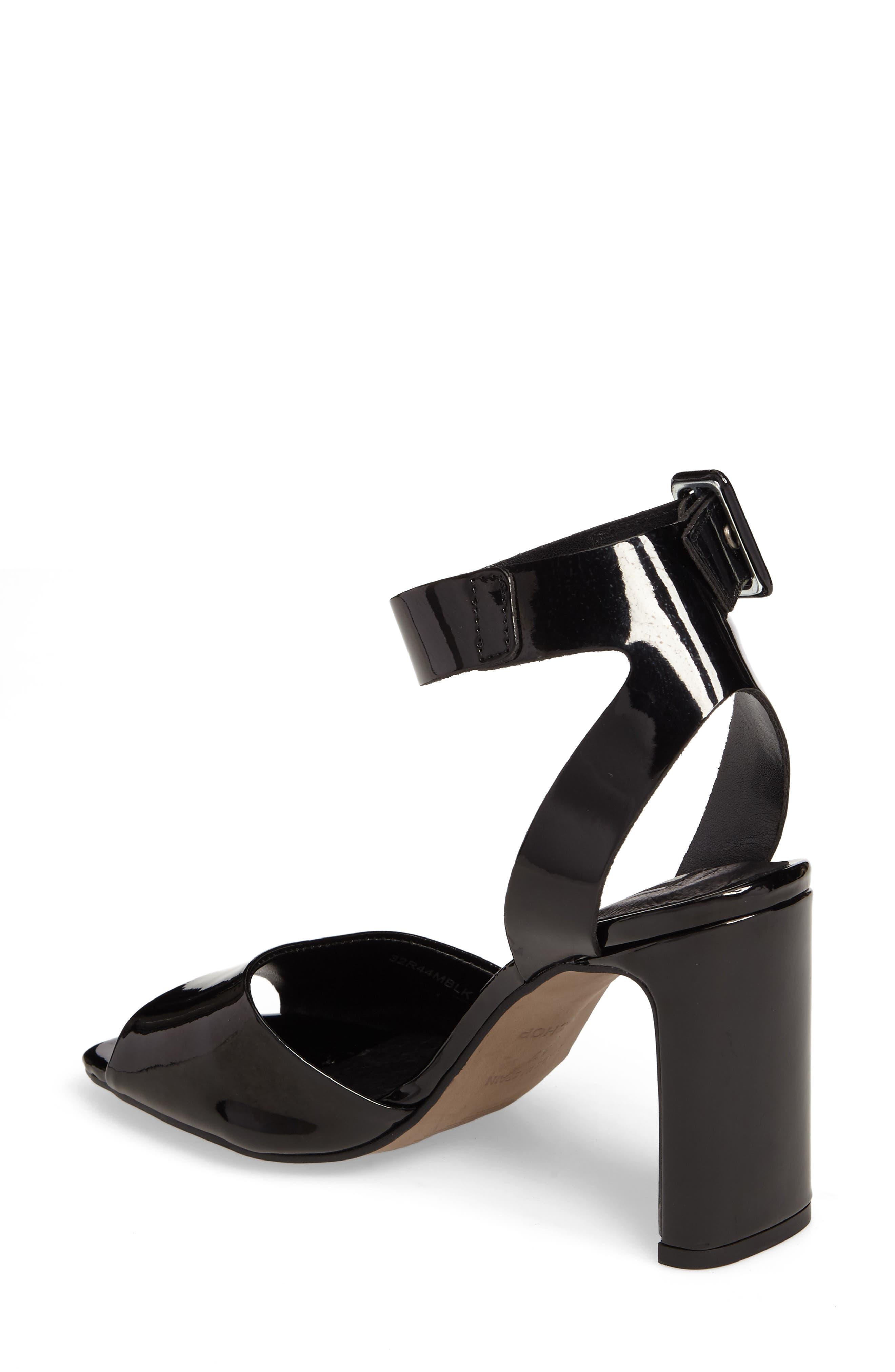 Roux Square Toe Sandal,                             Alternate thumbnail 2, color,                             Black