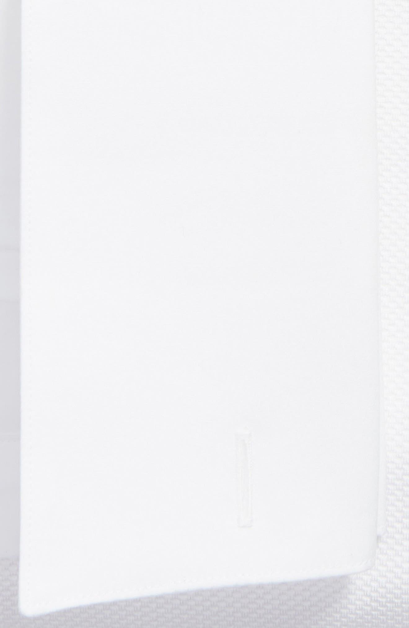 Regular Fit French Cuff Tuxedo Shirt,                             Alternate thumbnail 2, color,                             White