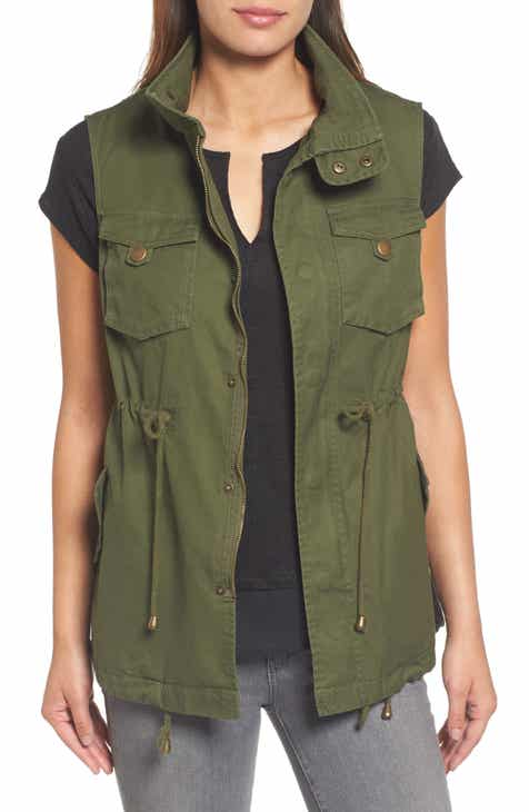 254ea49e51828 Pleione Cotton Twill Military Vest (Regular   Petite)