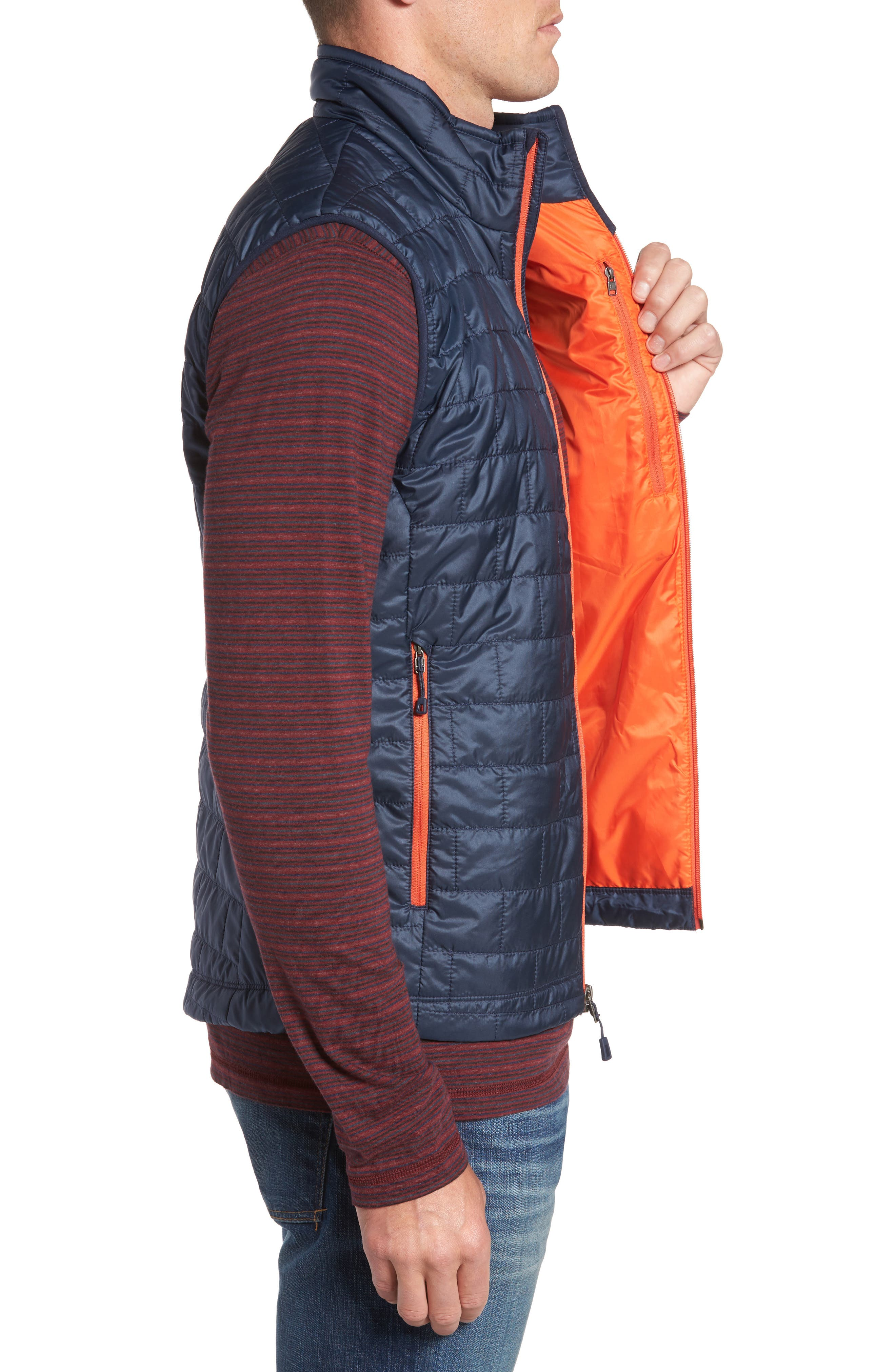 Nano Puff<sup>®</sup> Vest,                             Alternate thumbnail 3, color,                             Navy Blue W/ Paintbrush Red