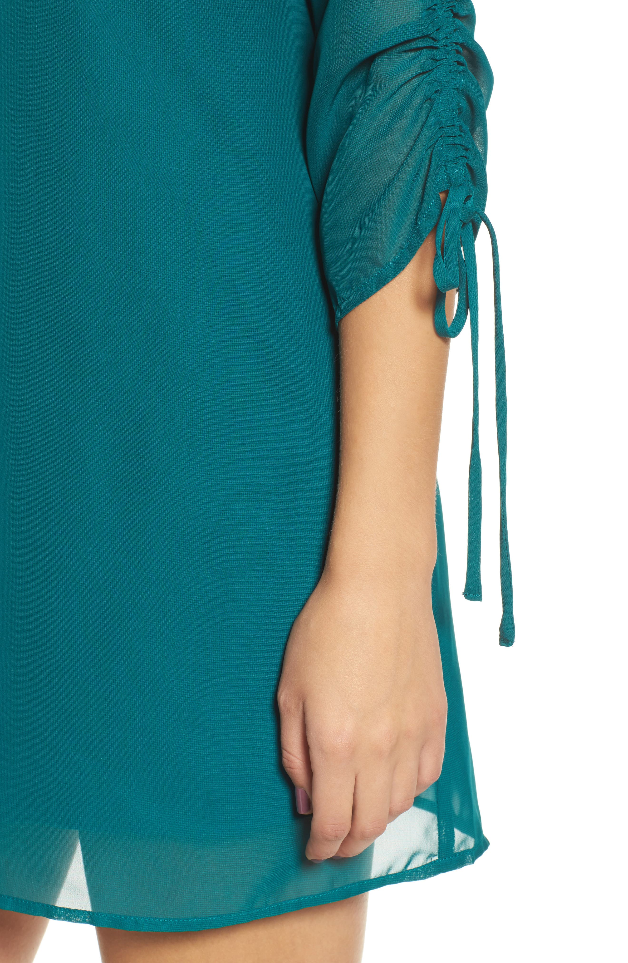Gigi Choker Shift Dress,                             Alternate thumbnail 4, color,                             Light Jade