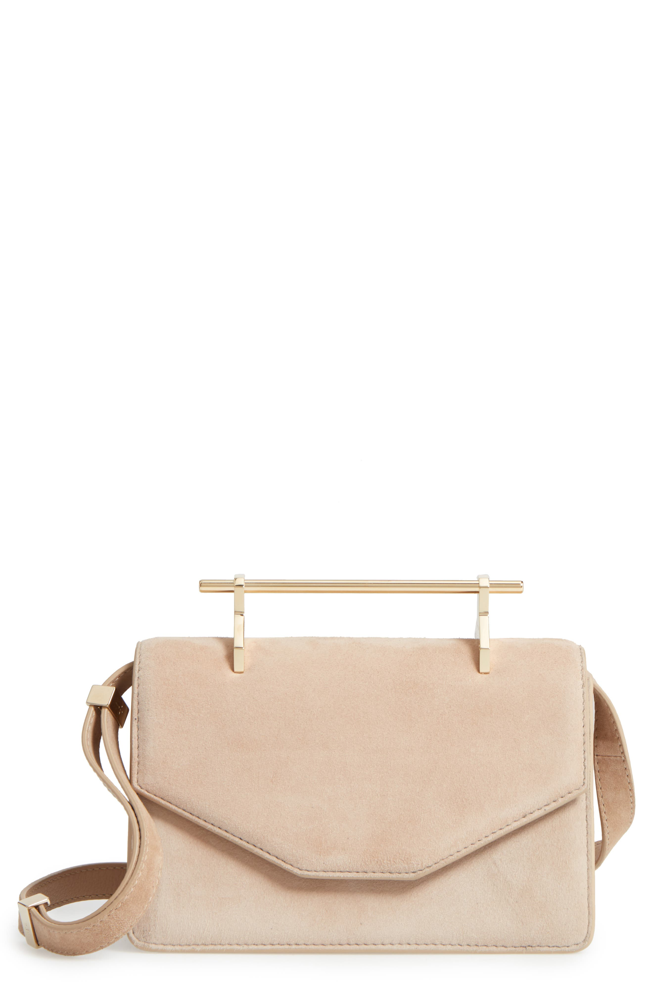 M2Malletier Indre Suede Shoulder Bag
