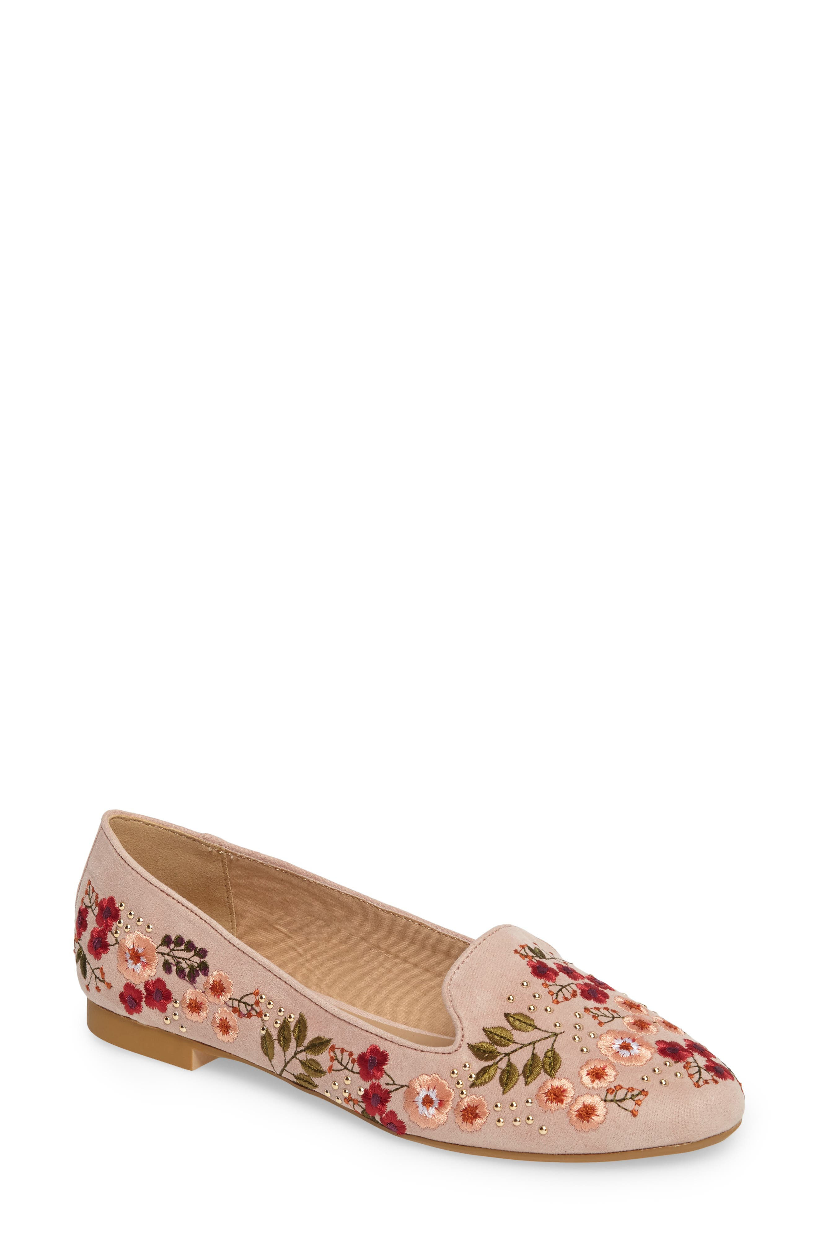 Alternate Image 1 Selected - Topshop Sugar Embroidered Smoking Slipper (Women)