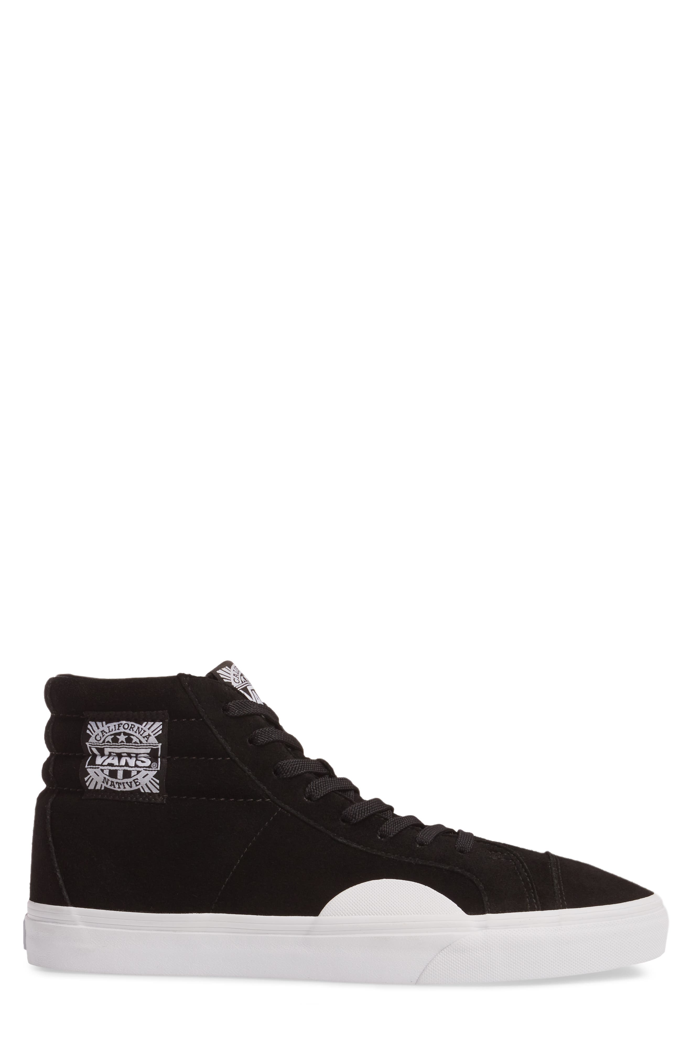 Style 238 Sneaker,                             Alternate thumbnail 3, color,                             Black/ White Suede
