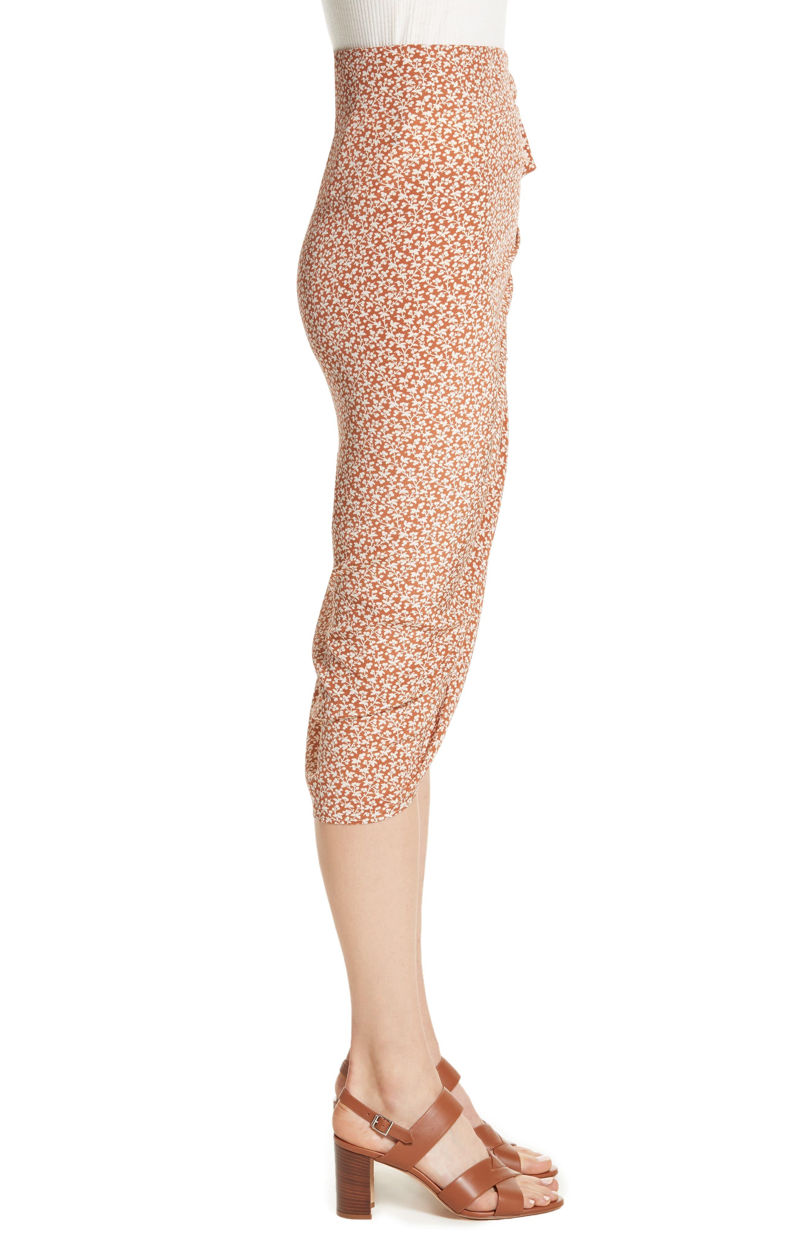 Alternate Image 3  - Veronica Beard Hazel Ruffle Ruched Silk Skirt