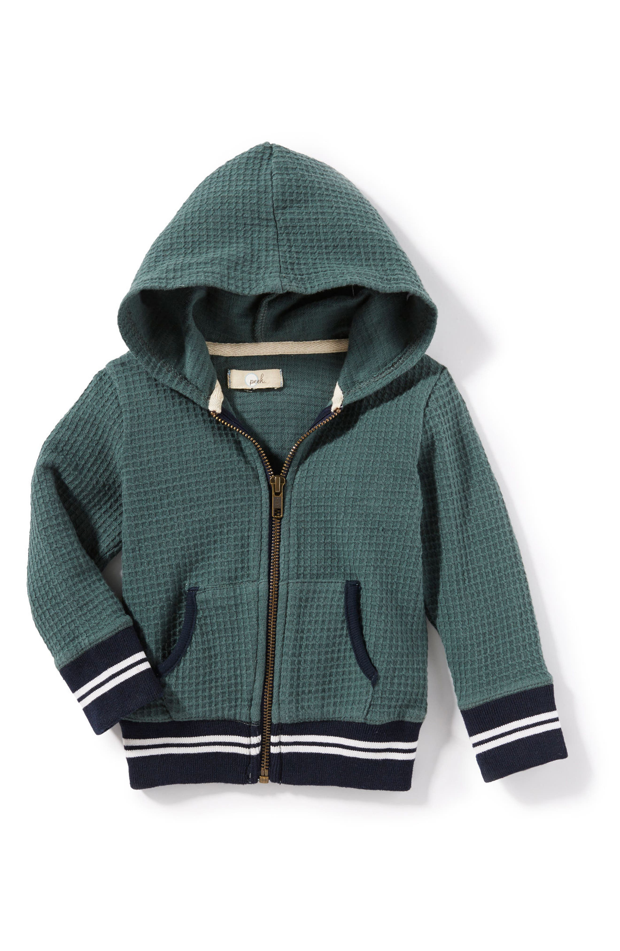 Jayden Thermal Hoodie,                         Main,                         color, Green