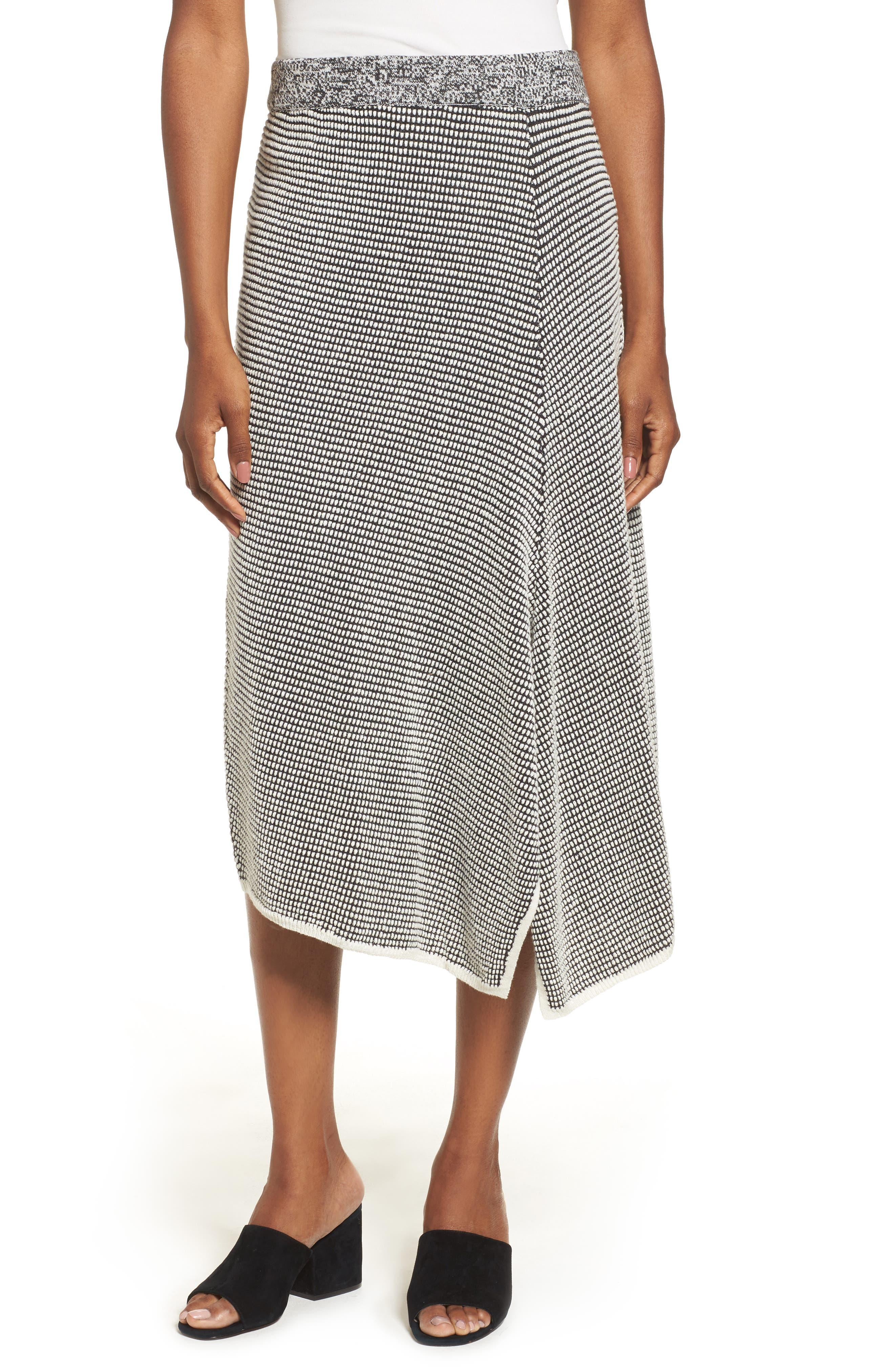 Main Image - NIC+ZOE Frosted Fall Knit Skirt (Regular & Petite)