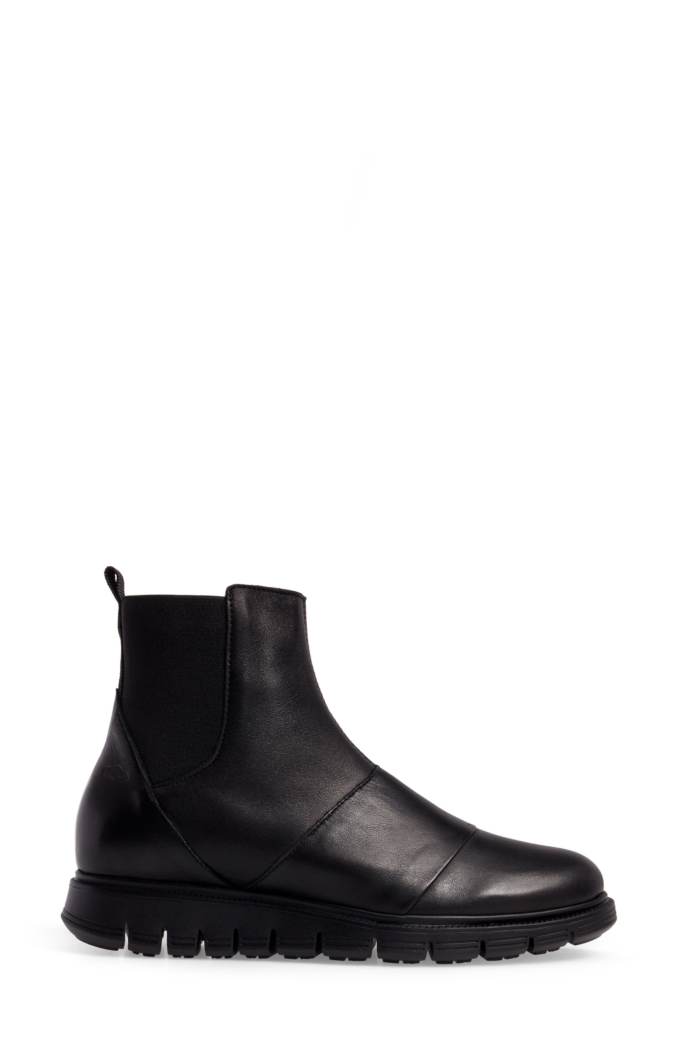 Gish Water-Resistant Bootie,                             Alternate thumbnail 3, color,                             Black Leather