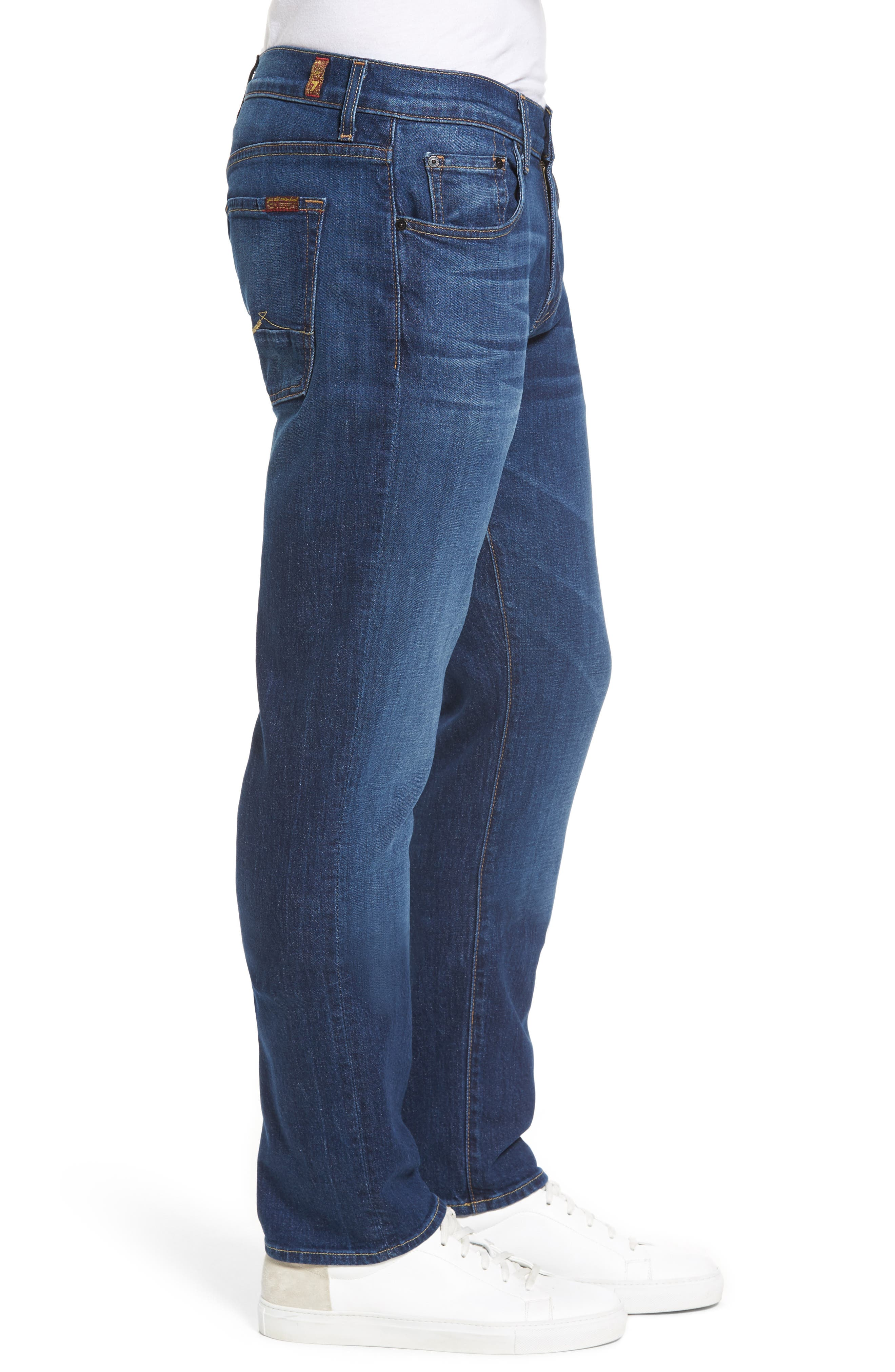 Alternate Image 3  - 7 For All Mankind® The Straight Slim Straight Leg Jeans (Dimension)