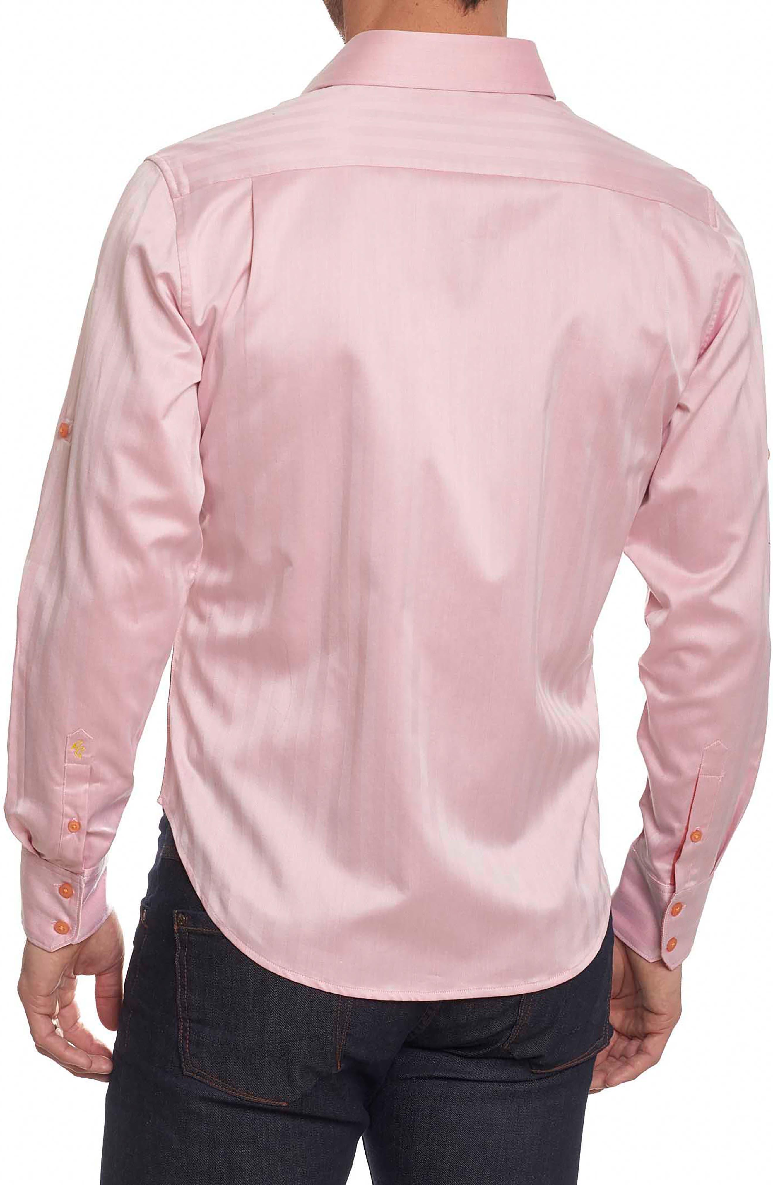 Canton Classic Fit Herringbone Sport Shirt,                             Alternate thumbnail 2, color,                             Salmon