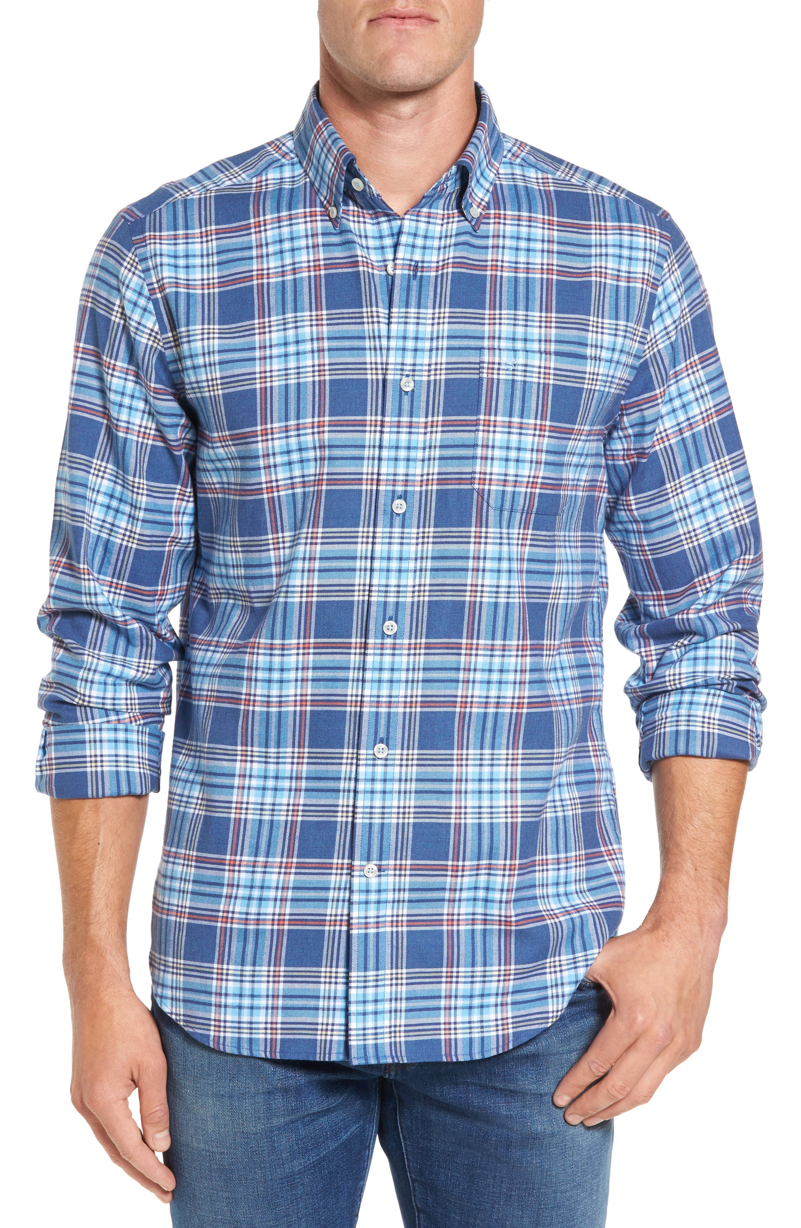 Southern Tide Acadian Classic Fit Plaid Sport Shirt