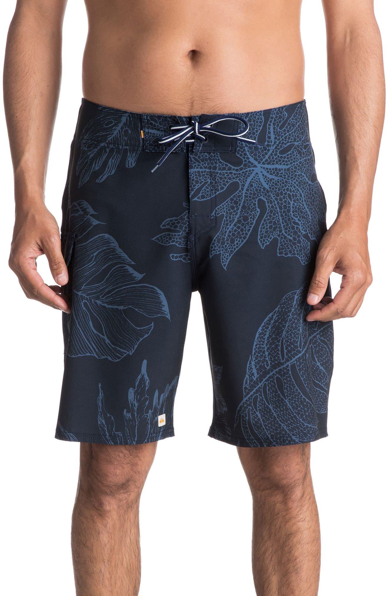 Xoa Board Shorts,                             Main thumbnail 1, color,                             Navy Blazer