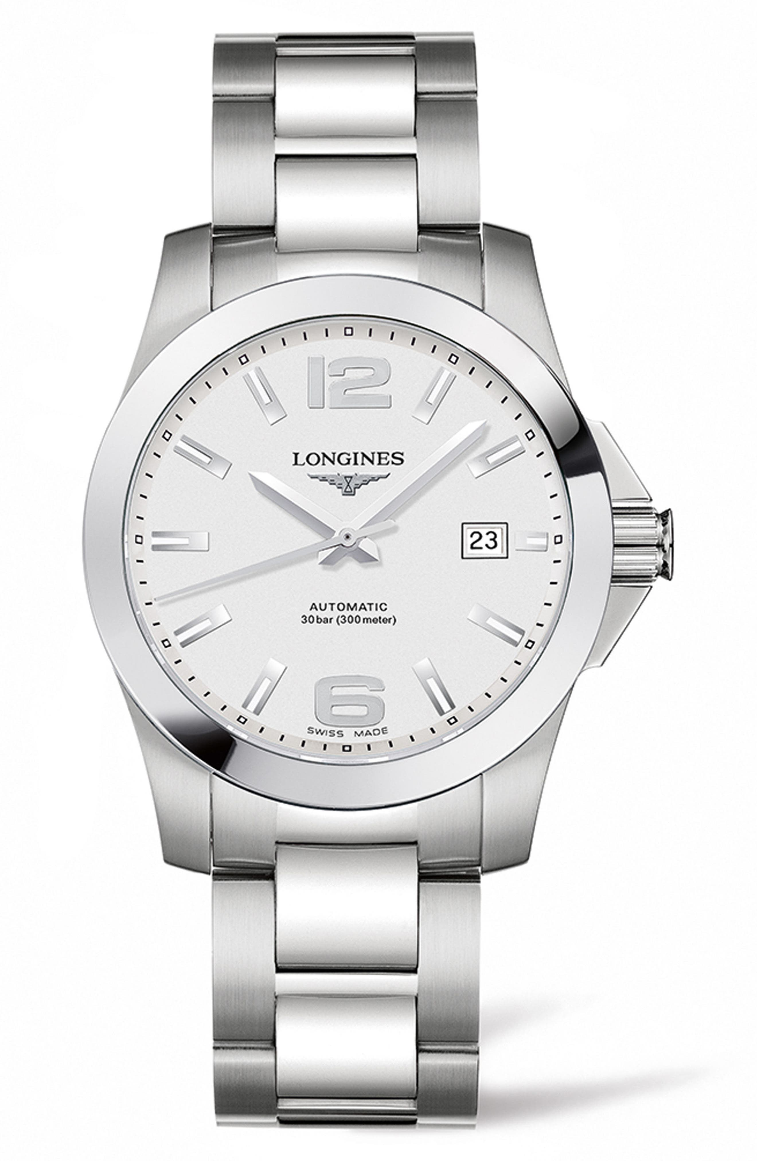LONGINES Conquest Automatic Bracelet Watch, 39mm