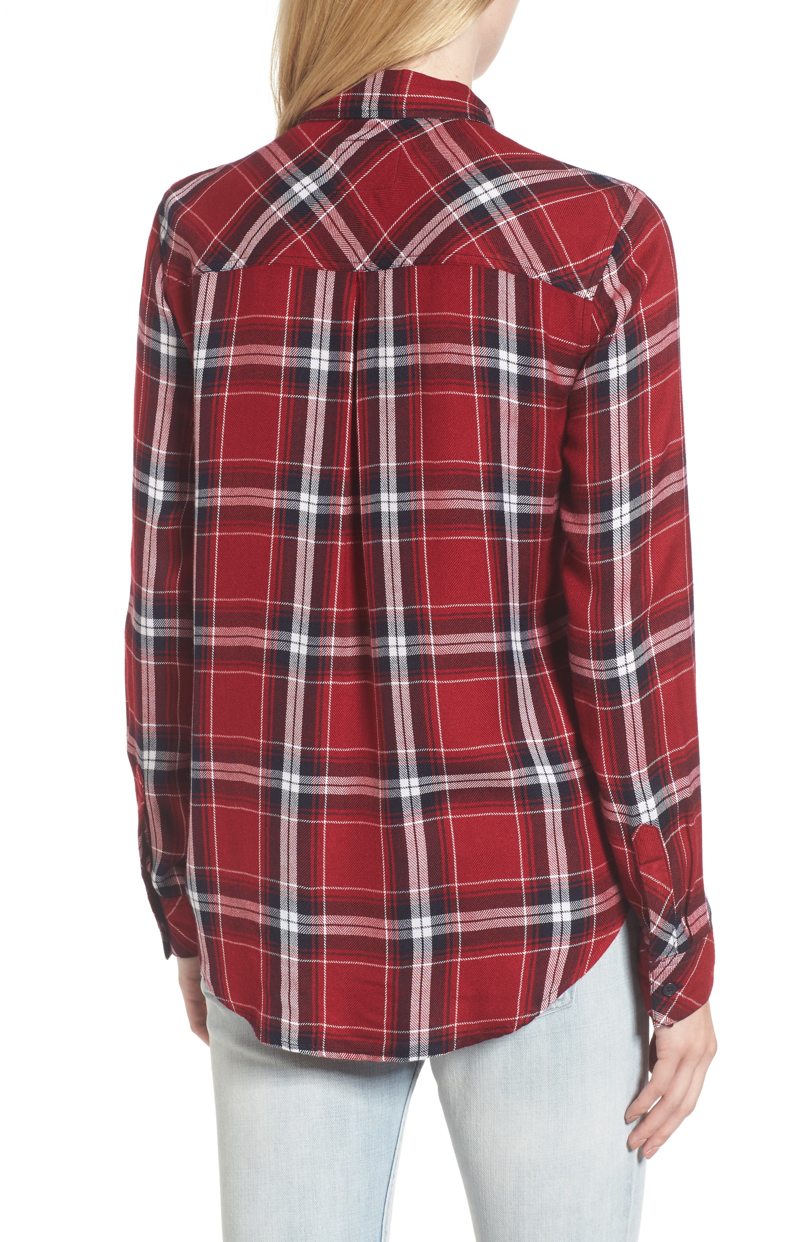 Hunter Plaid Shirt,                             Alternate thumbnail 2, color,                             Cranberry Ink
