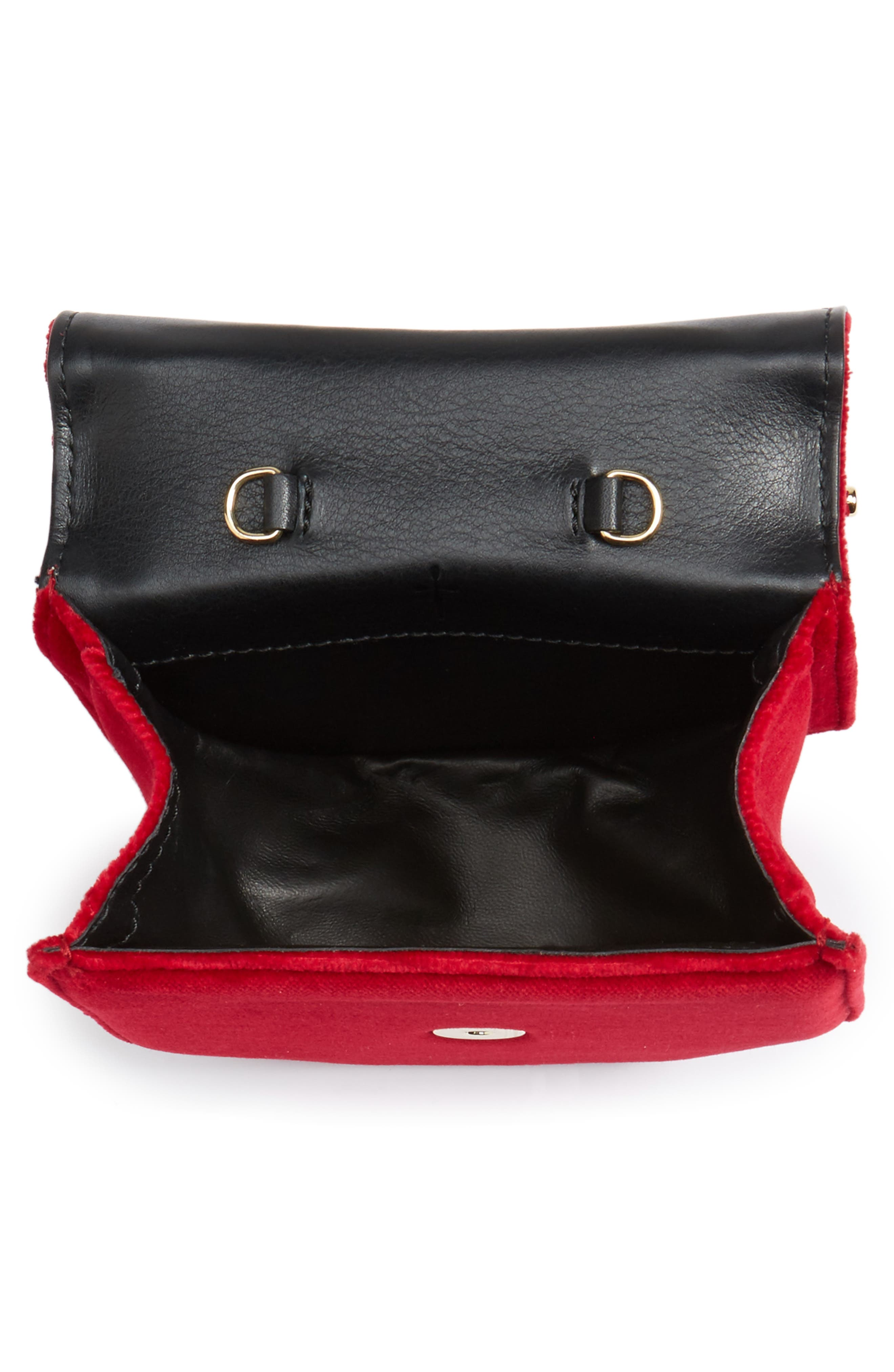 Alternate Image 4  - M2Malletier Mini Amor Fati Velvet Shoulder Bag