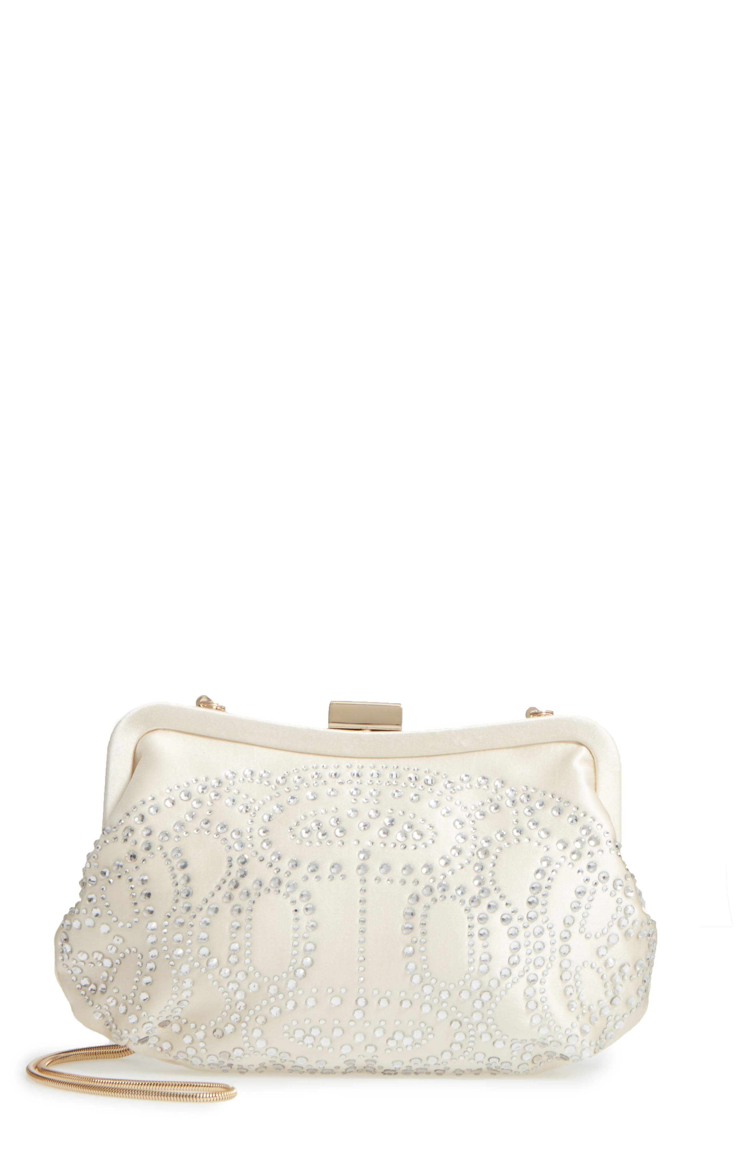 Badgley Mischka Doe Satin Clutch