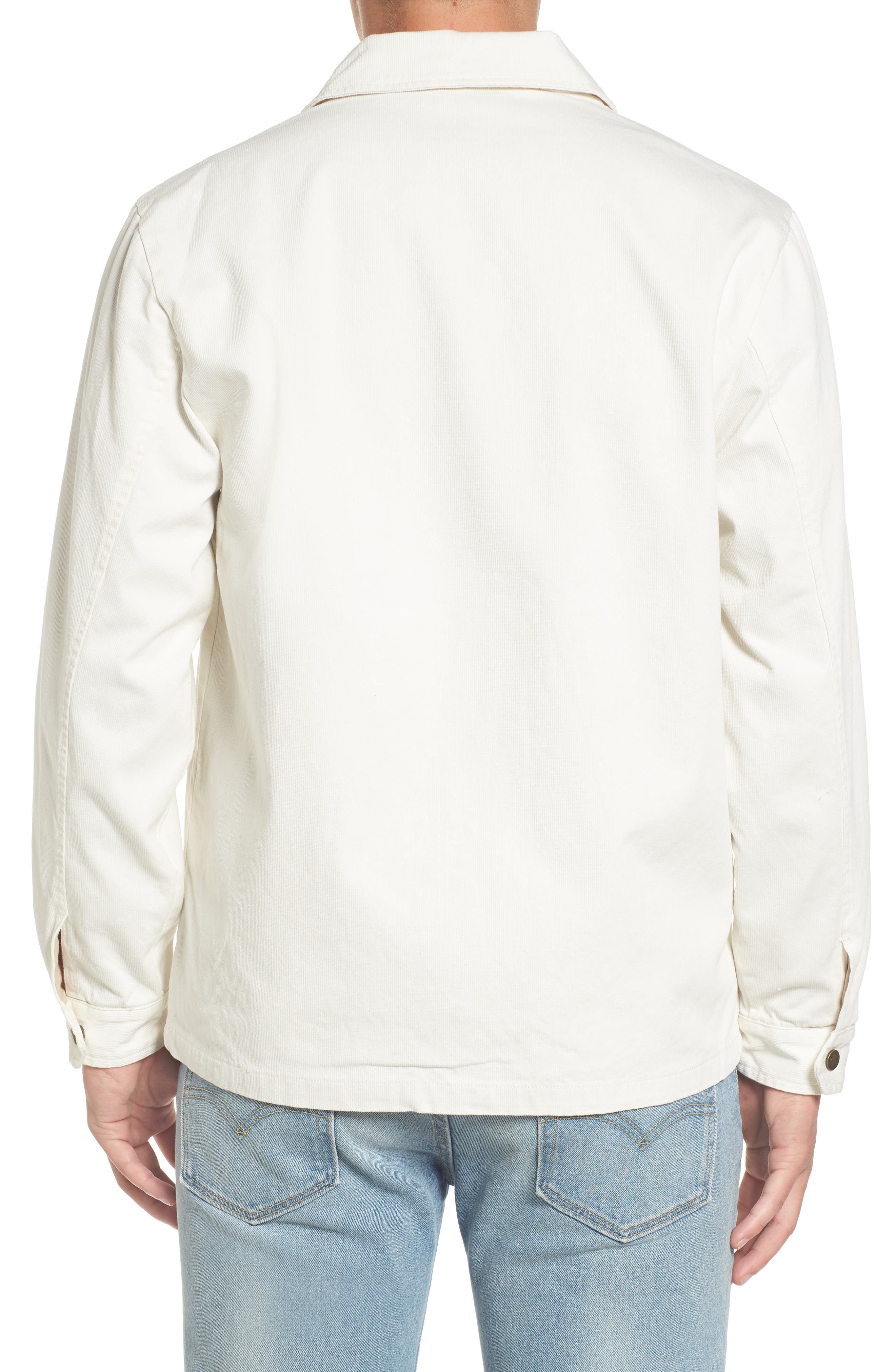Wright Water Resistant Coach's Jacket,                             Alternate thumbnail 2, color,                             Off White