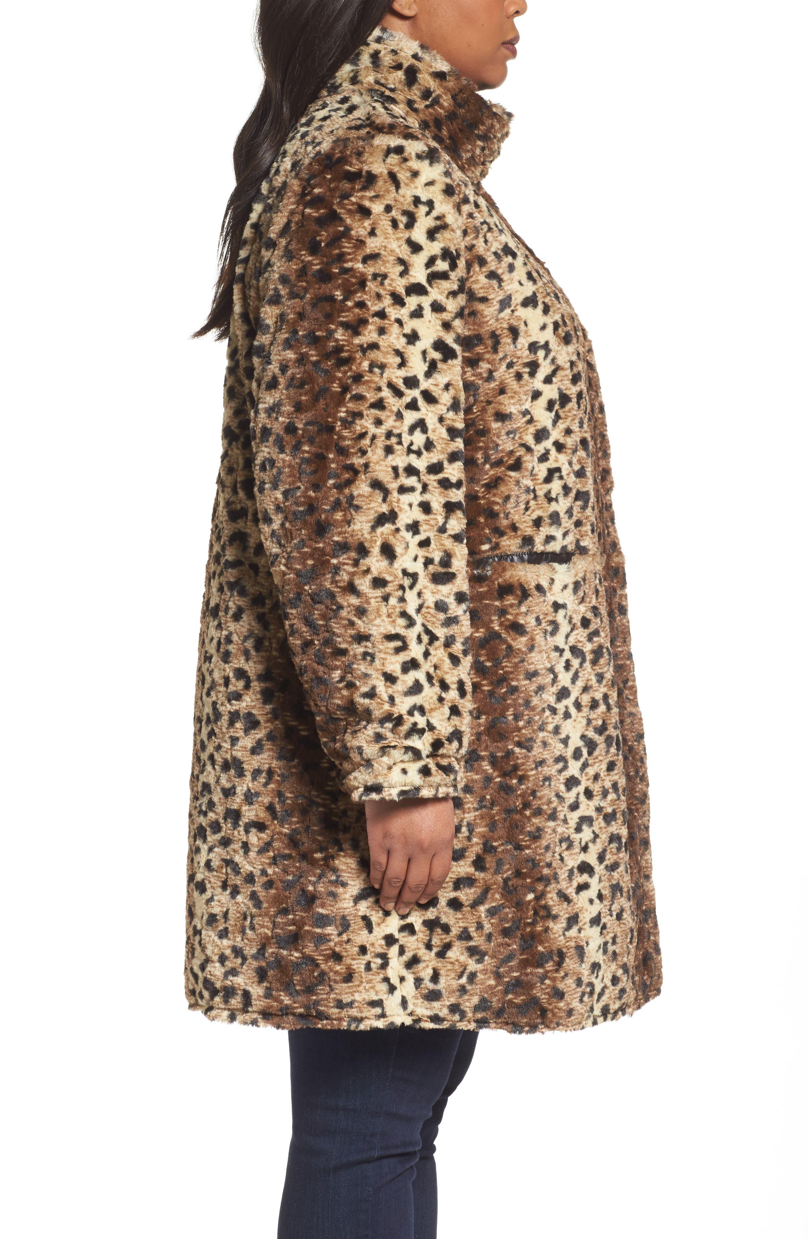 Reversible Coat,                             Alternate thumbnail 3, color,                             Cheetah