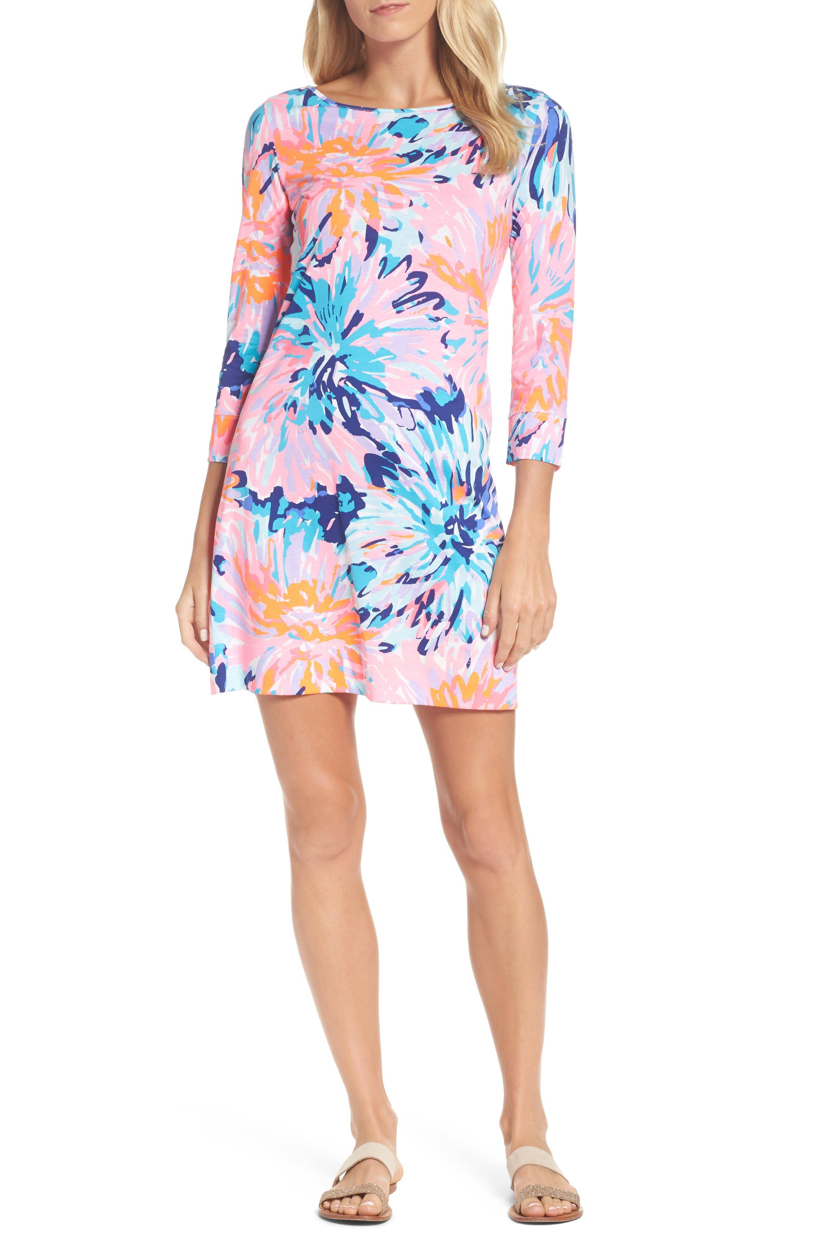 Marlowe T-Shirt Dress,                             Main thumbnail 1, color,                             Multi Off Tropic