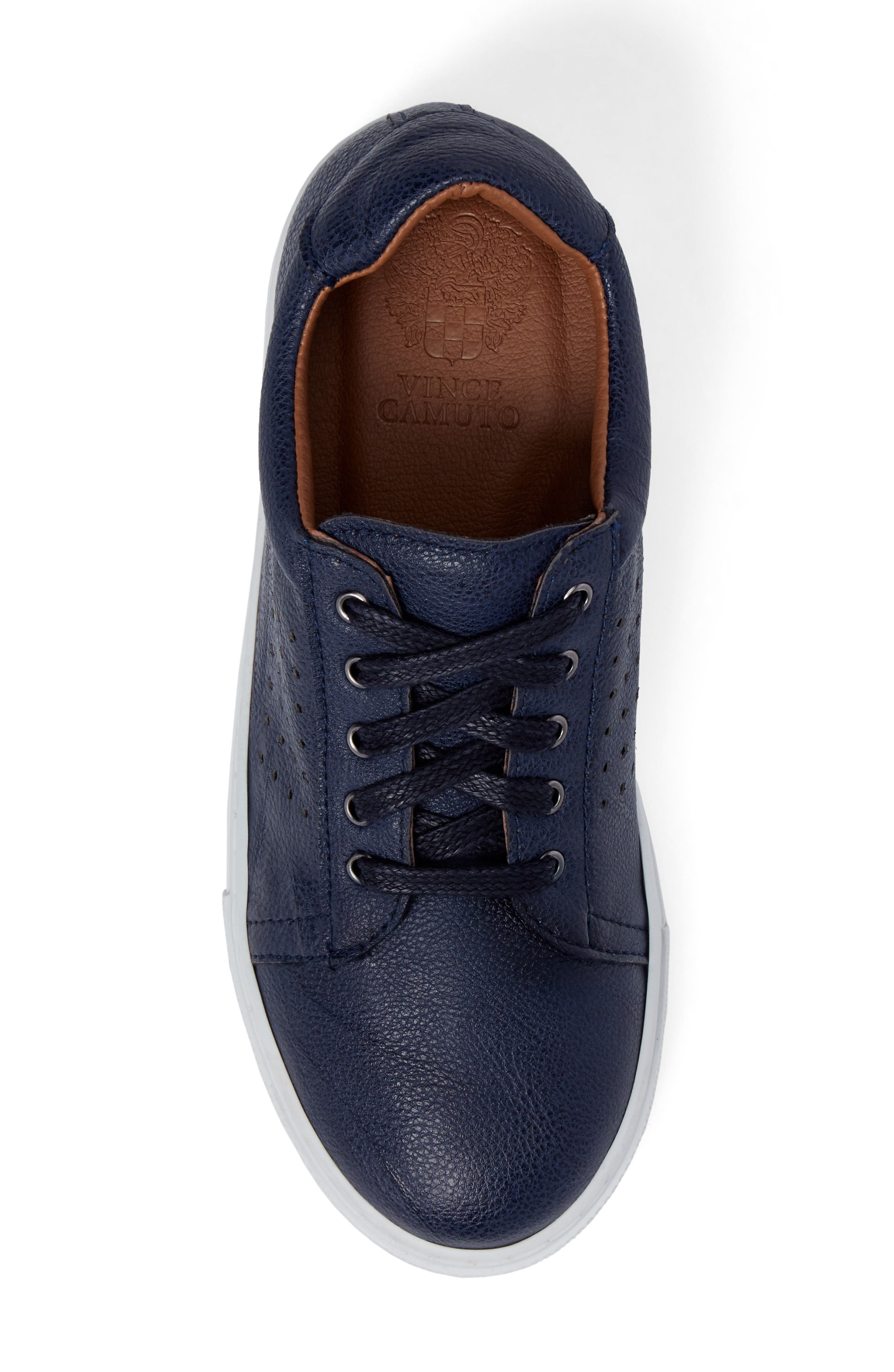 Grafte Perforated Sneaker,                             Alternate thumbnail 5, color,                             Navy