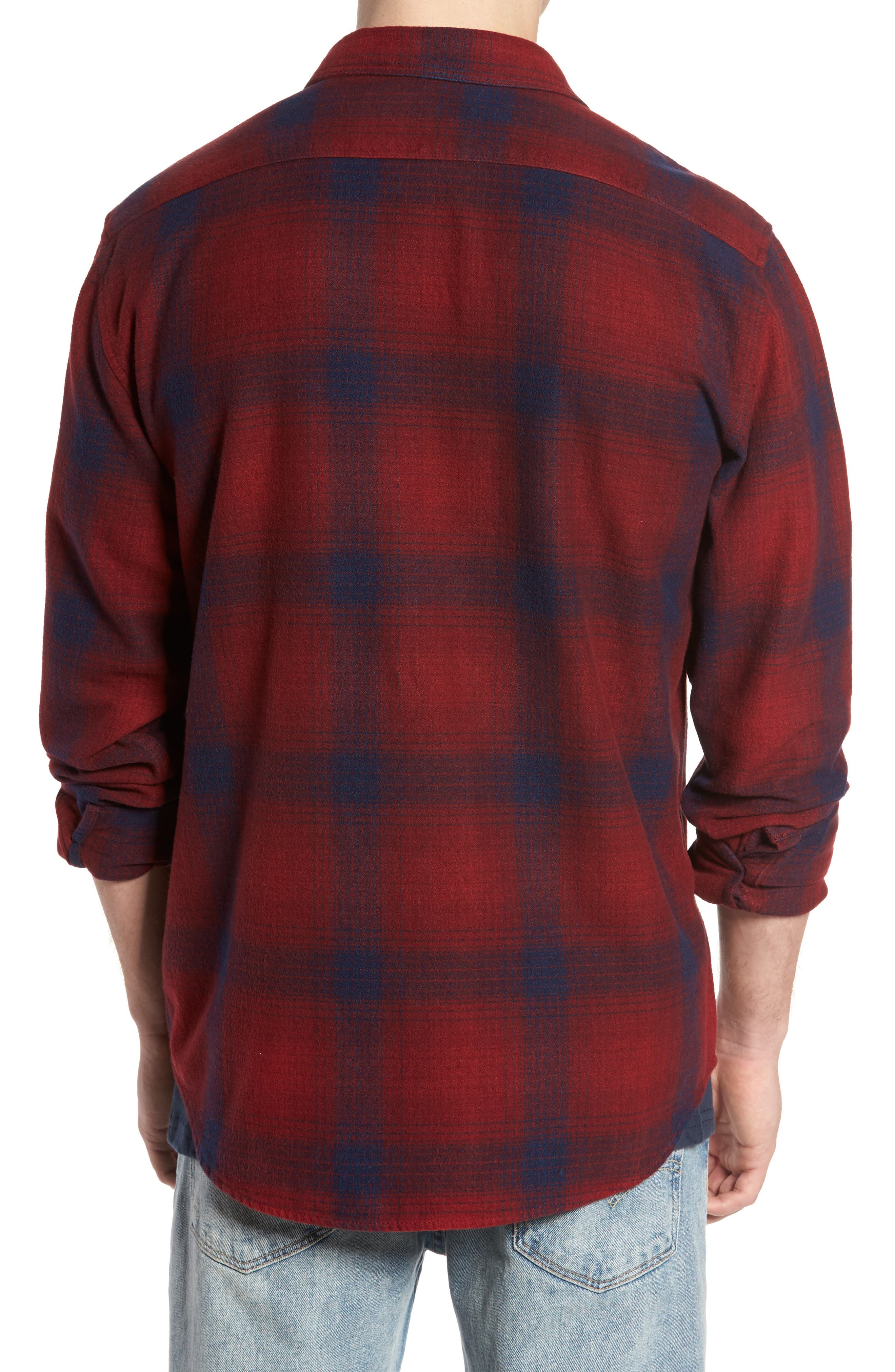 Ventura Flannel Shirt,                             Alternate thumbnail 2, color,                             Red