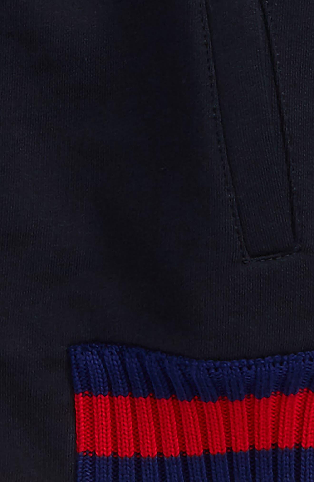Rib Knit Trim Front Zip Sweatshirt,                             Alternate thumbnail 2, color,                             Blue Multi