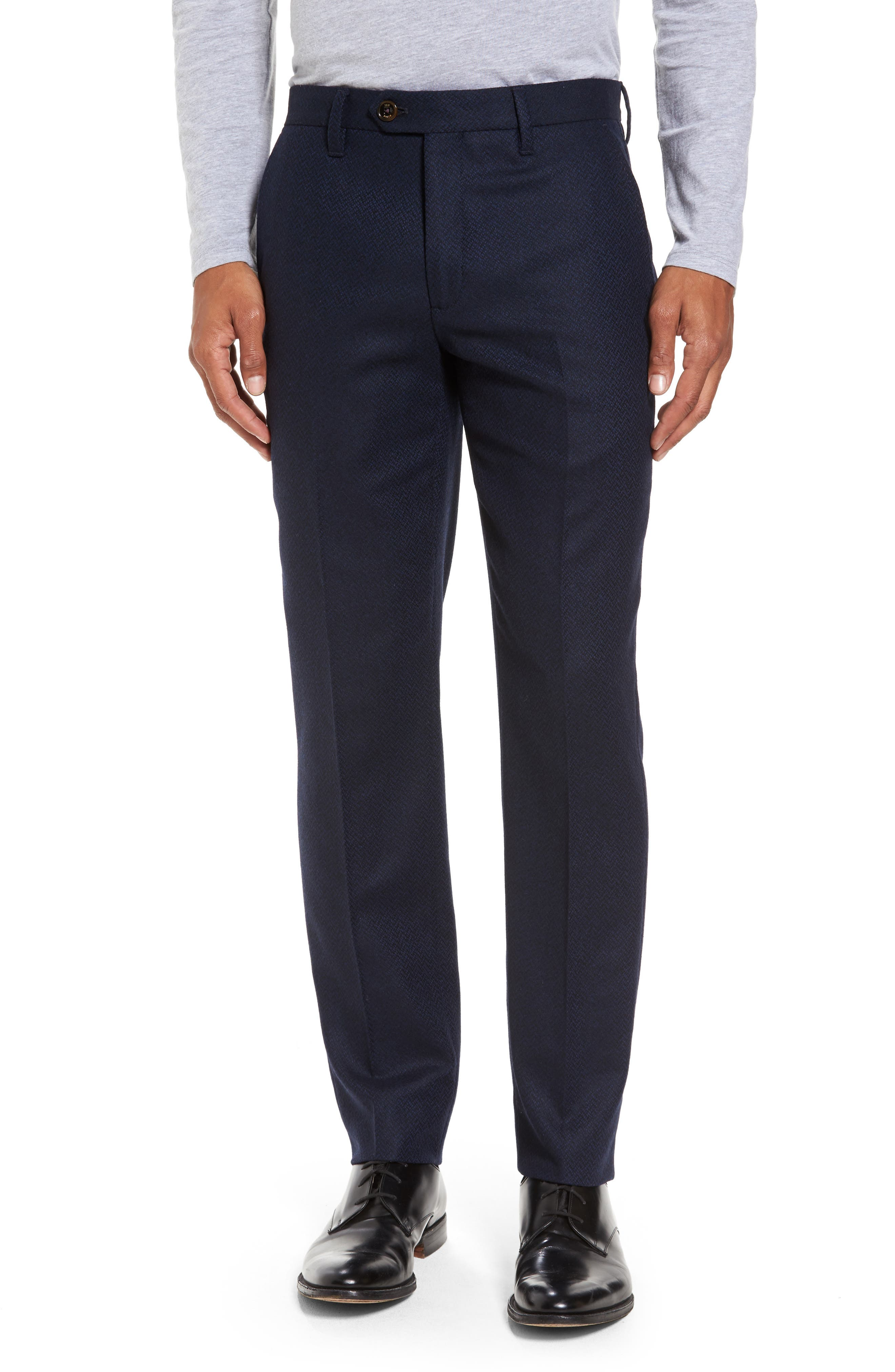 Ted Baker London Glentro Semi Plain Wool Blend Trousers