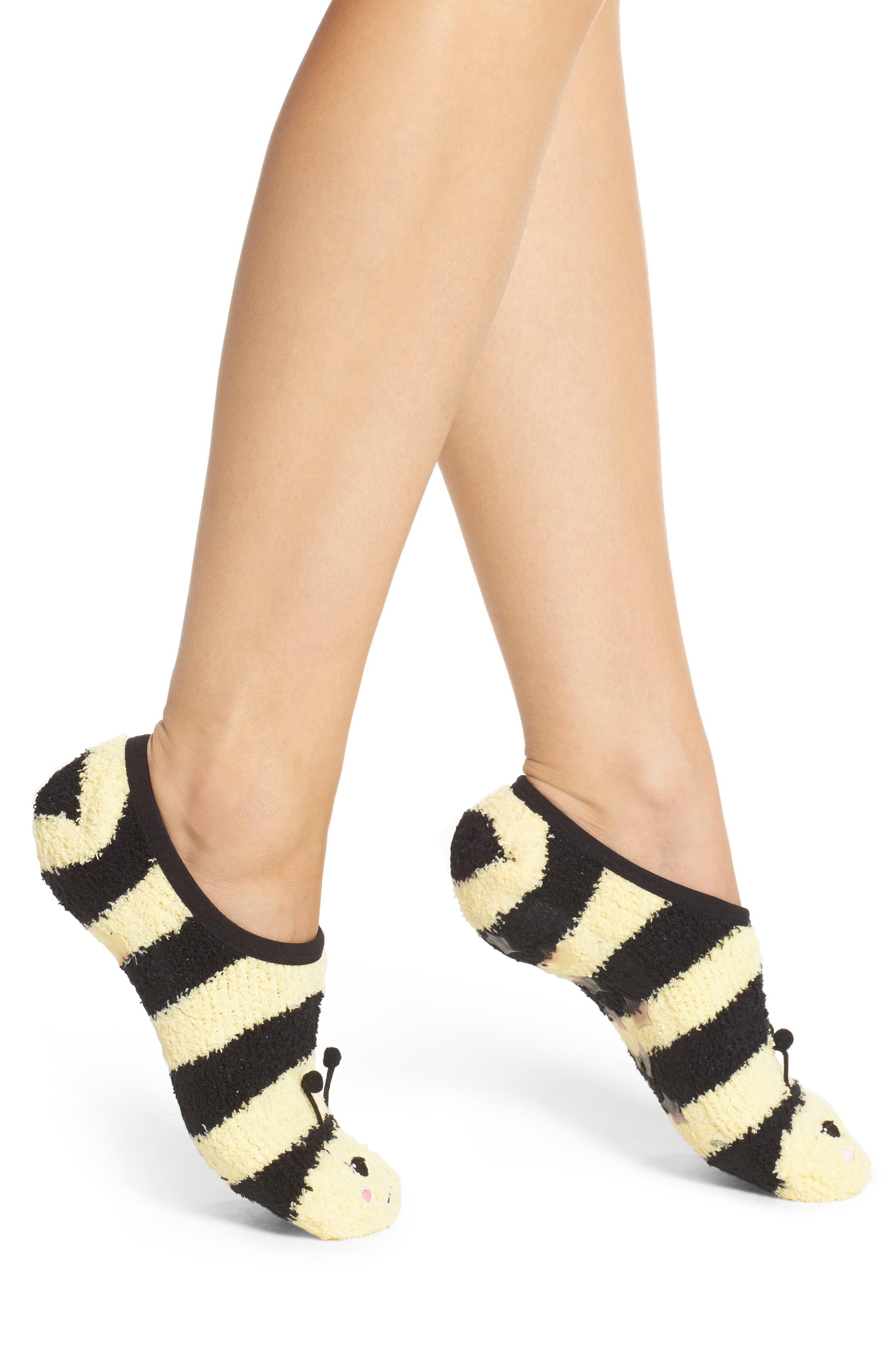 PJ Salvage Bee Plush Slipper Socks
