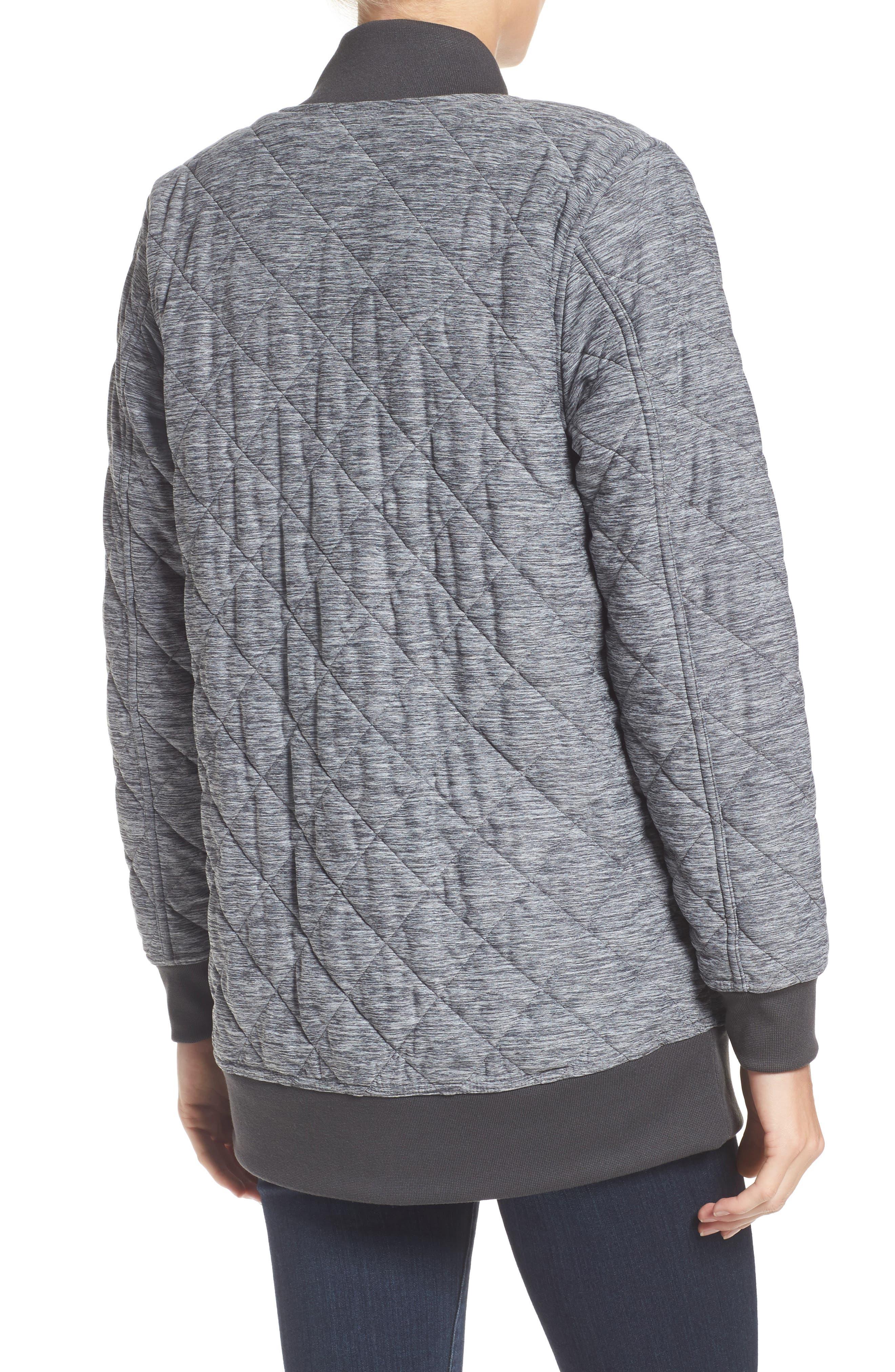 Mod Insulated Knit Jacket,                             Alternate thumbnail 3, color,                             Tnf Dark Grey Heather