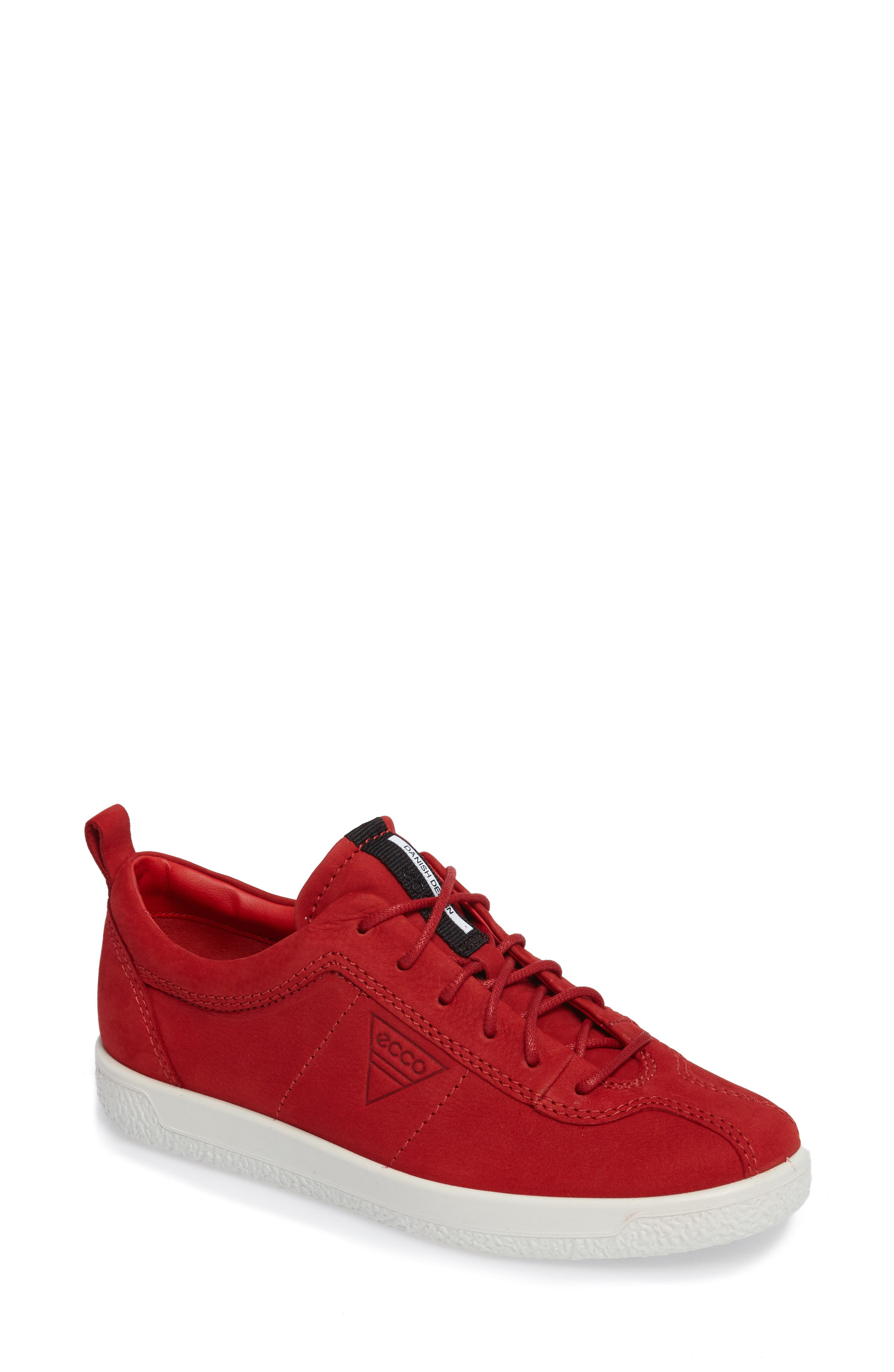 Soft 1 Sneaker,                         Main,                         color, Chili Red Leather