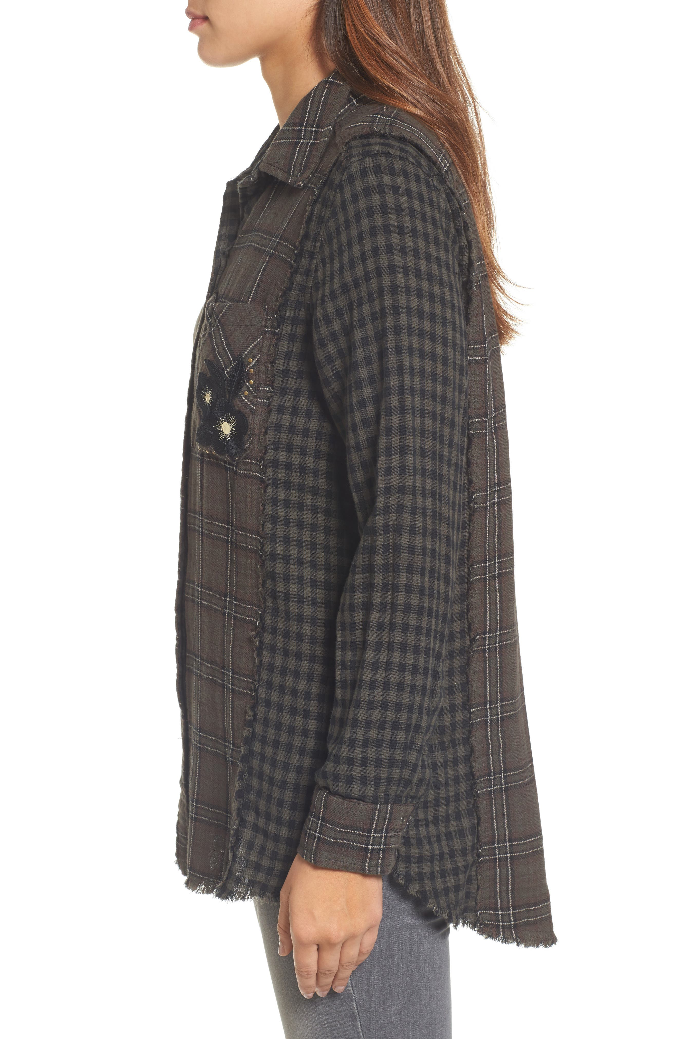 Alternate Image 3  - Wit & Wisdom Contrast Sleeve Button-Down Top (Nordstrom Exclusive)
